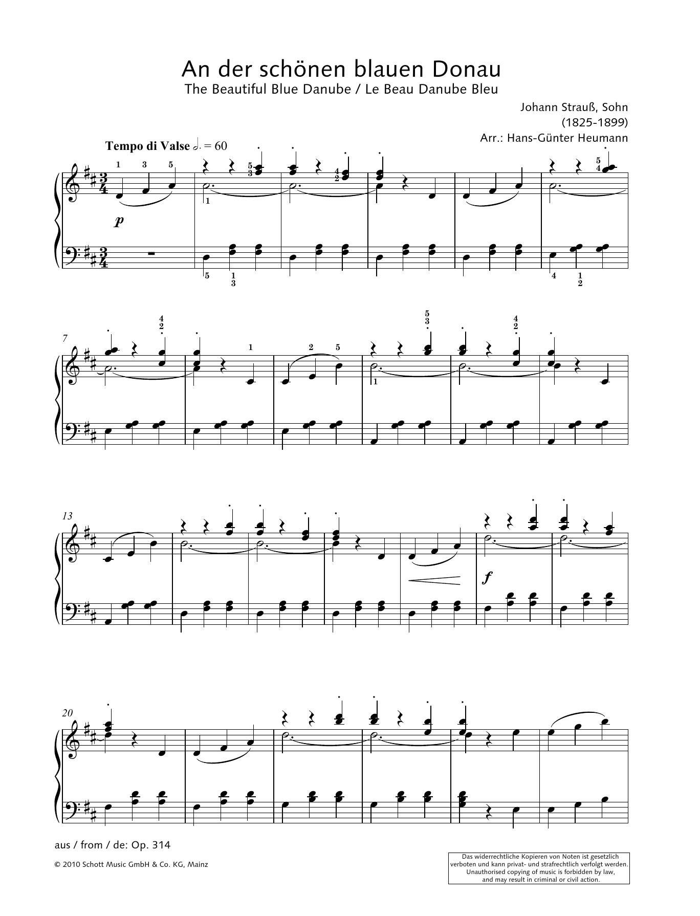 The Beautiful Blue Danube Sheet Music