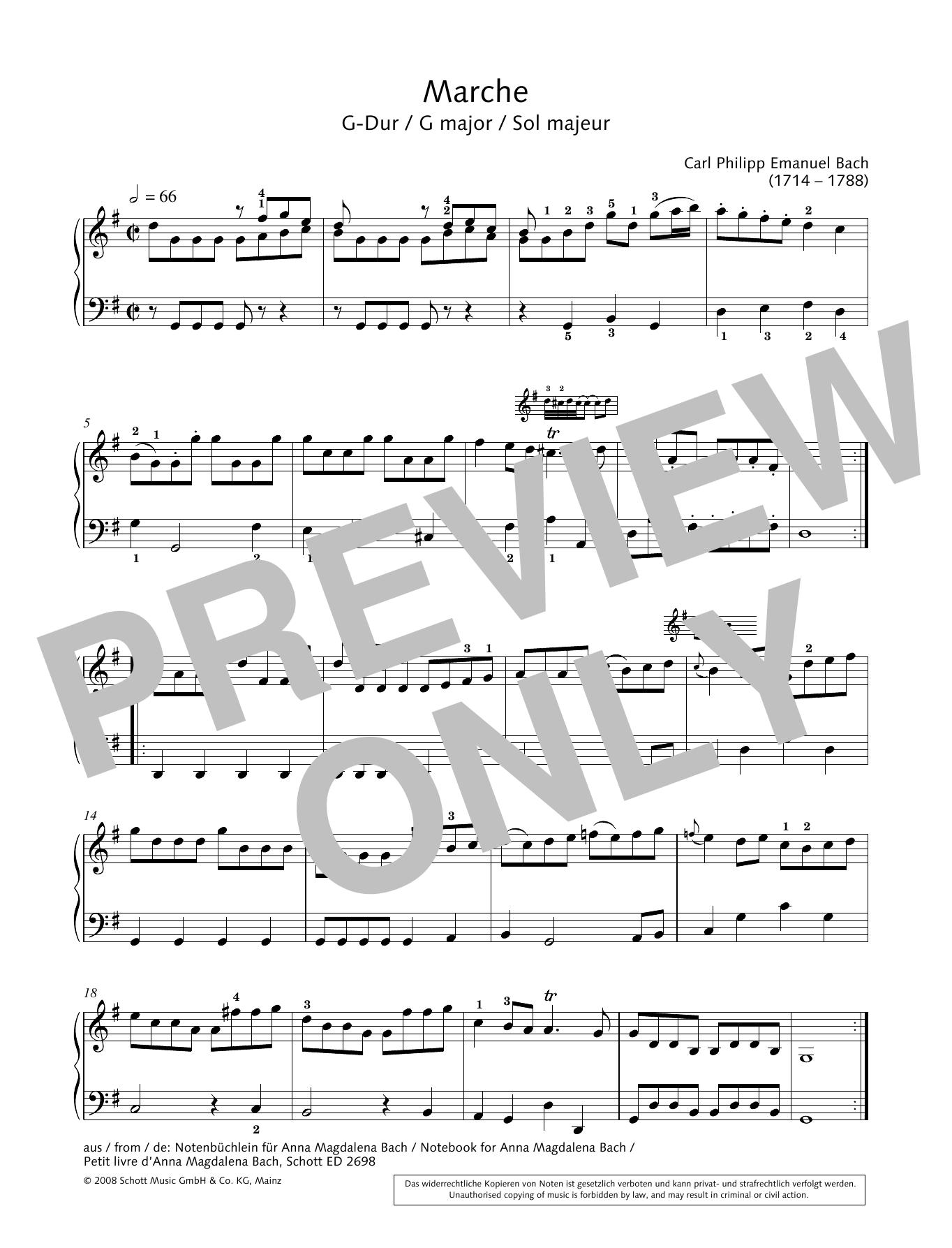Marche in G major Sheet Music