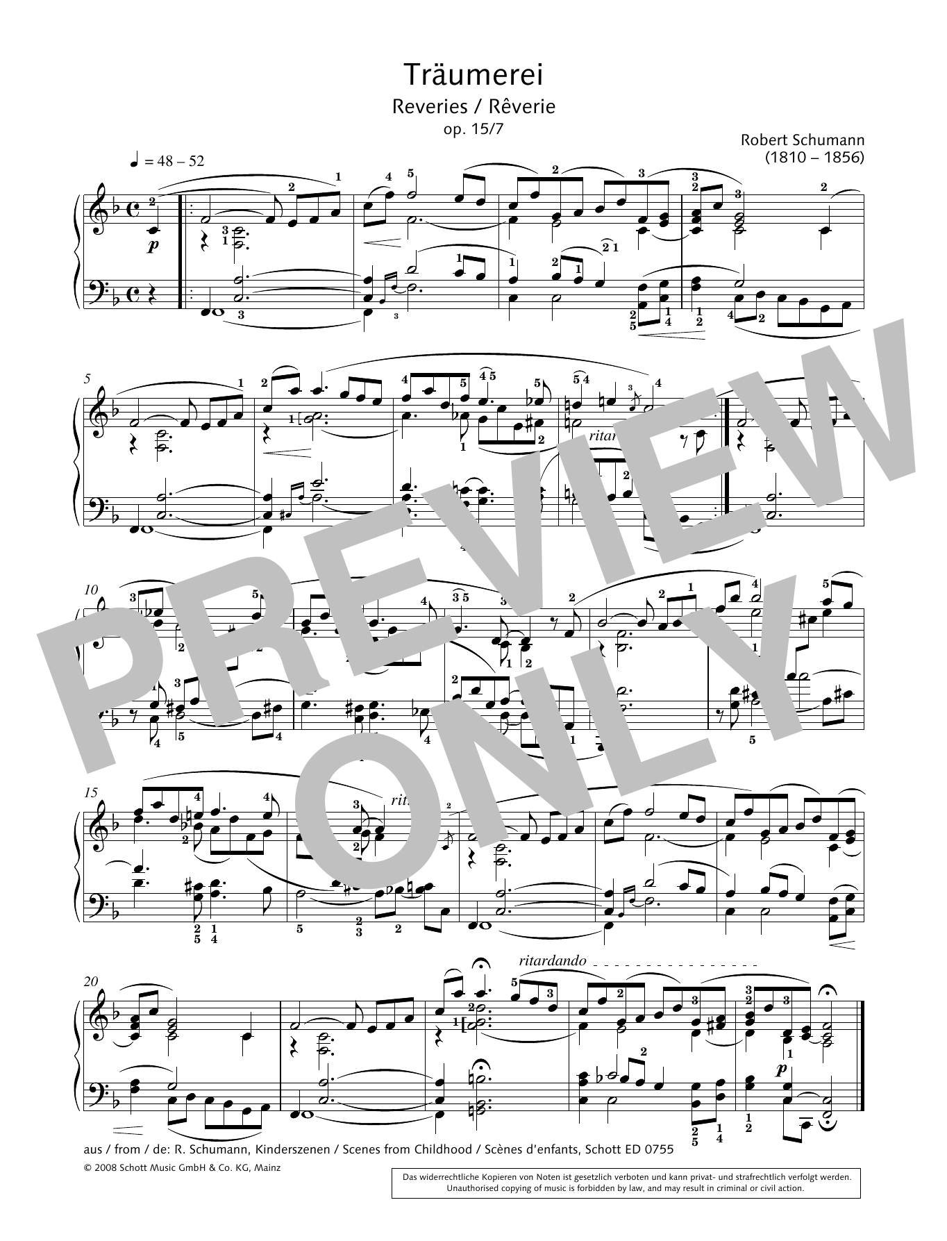 Rêveries Sheet Music