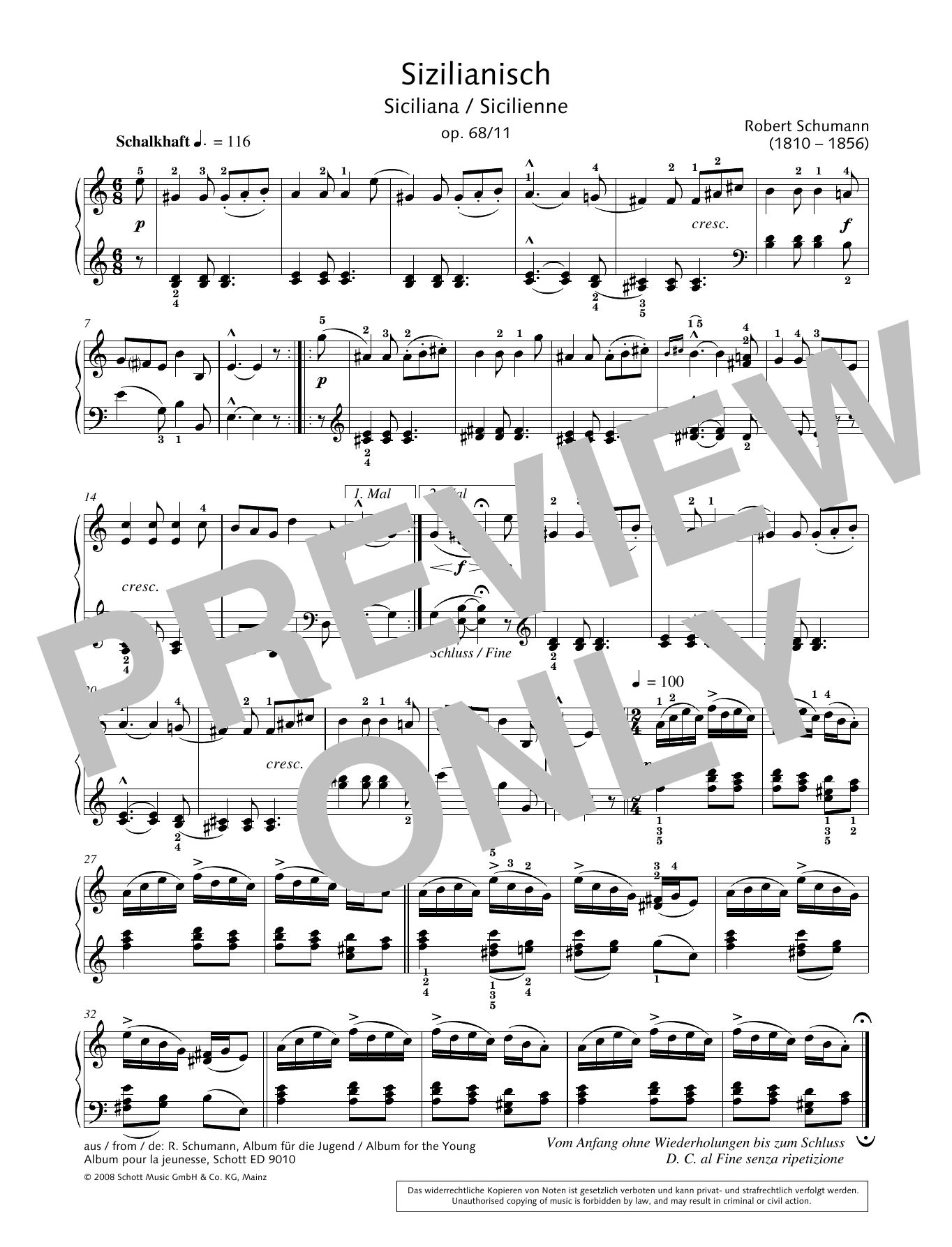 Siciliana Sheet Music