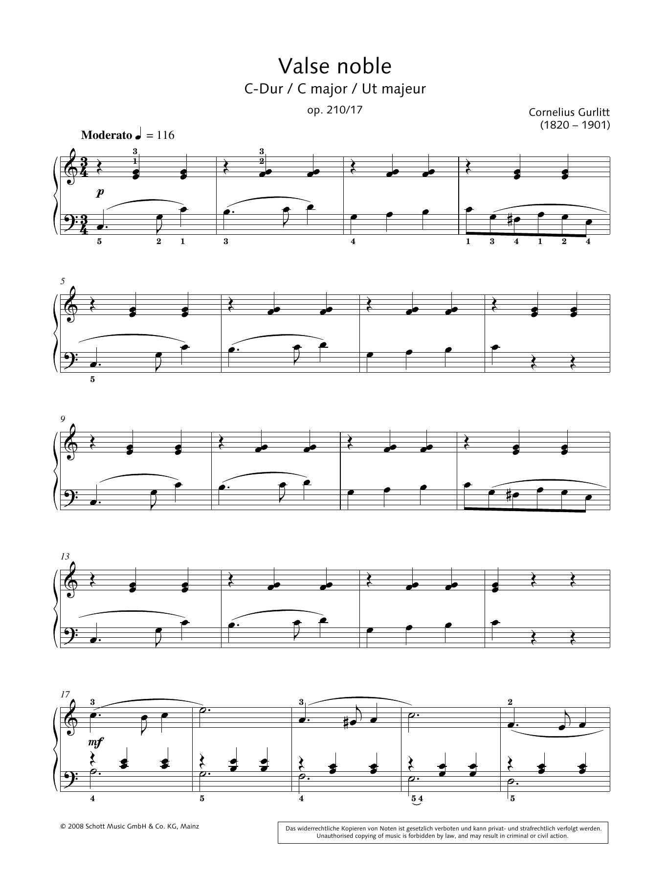 Valse noble in C major Sheet Music