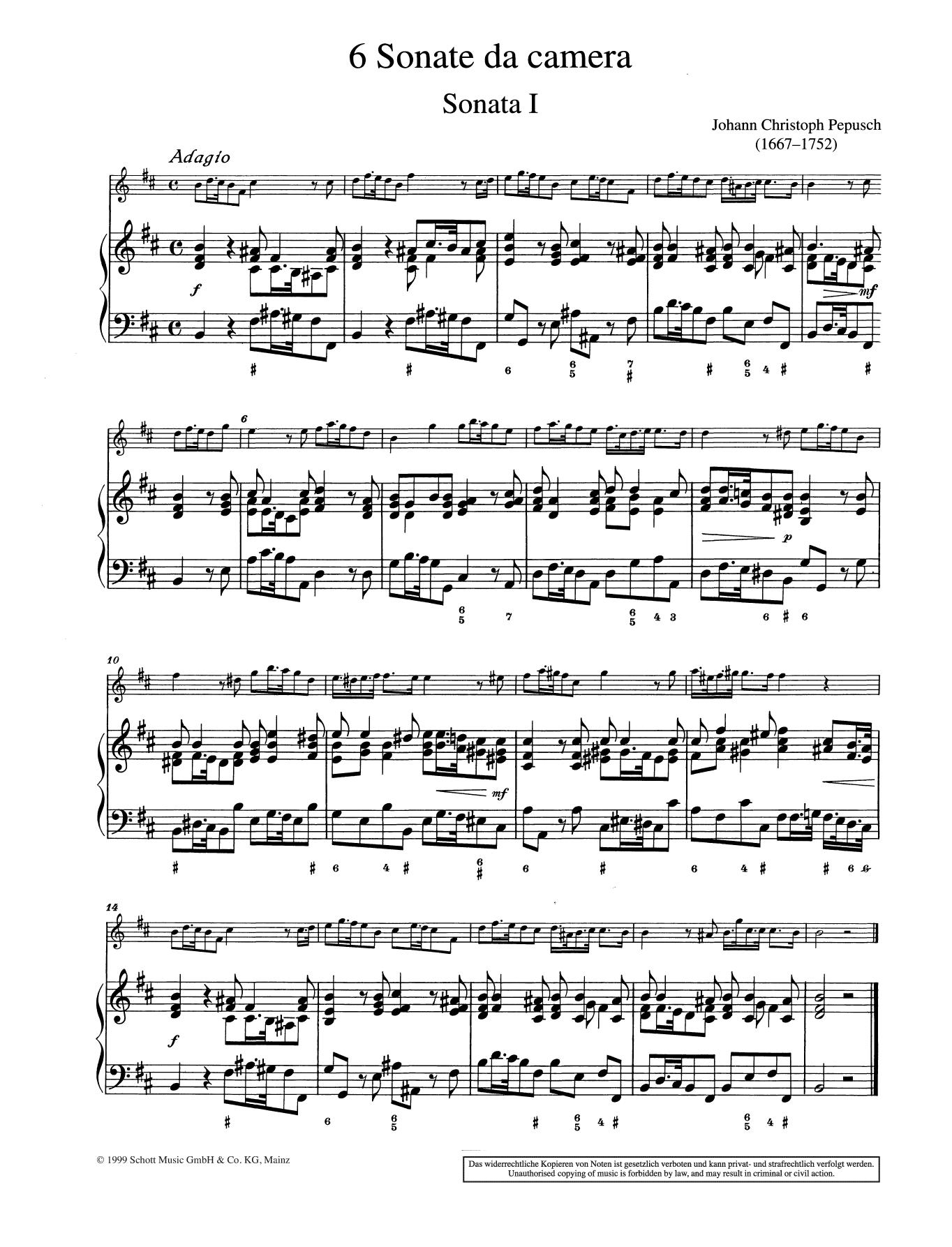 Sonata No. 1 Sheet Music