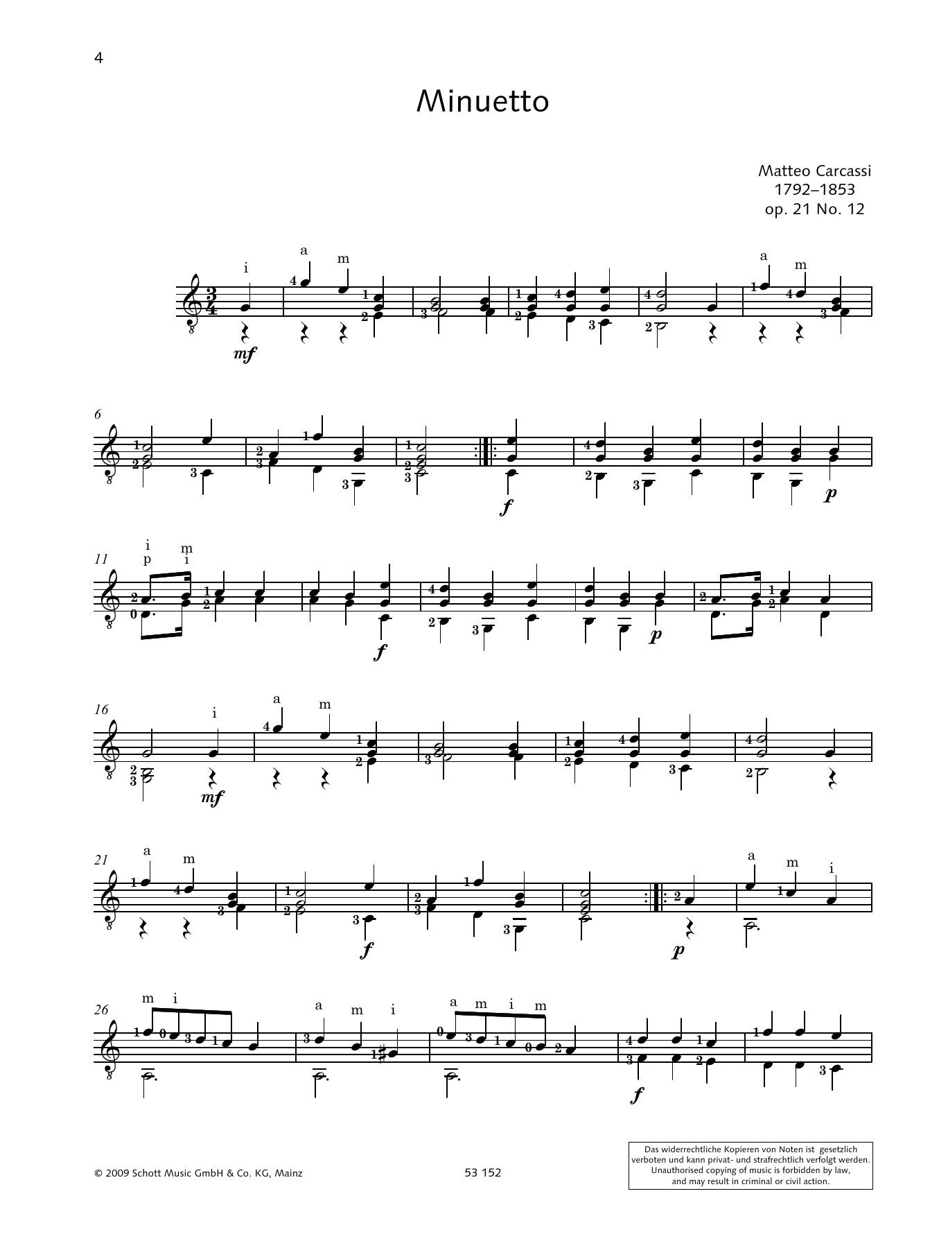 Minuetto Sheet Music