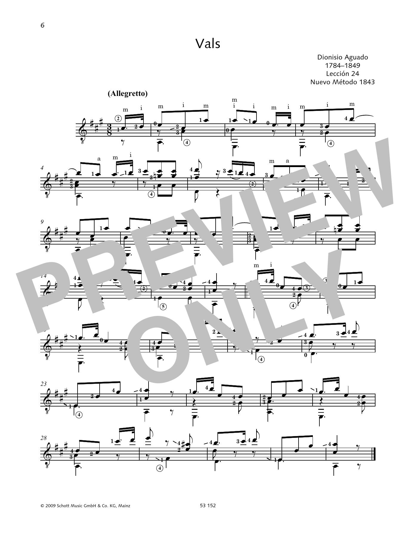 Vals Sheet Music