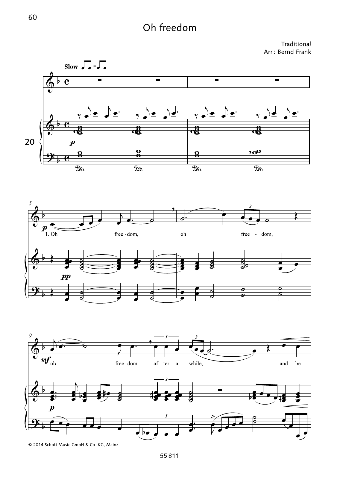 Oh Freedom Sheet Music