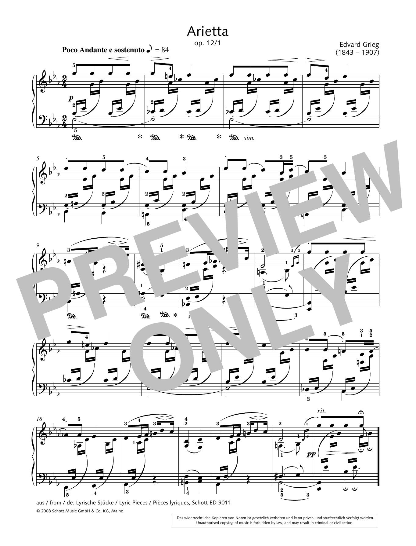 Arietta Sheet Music