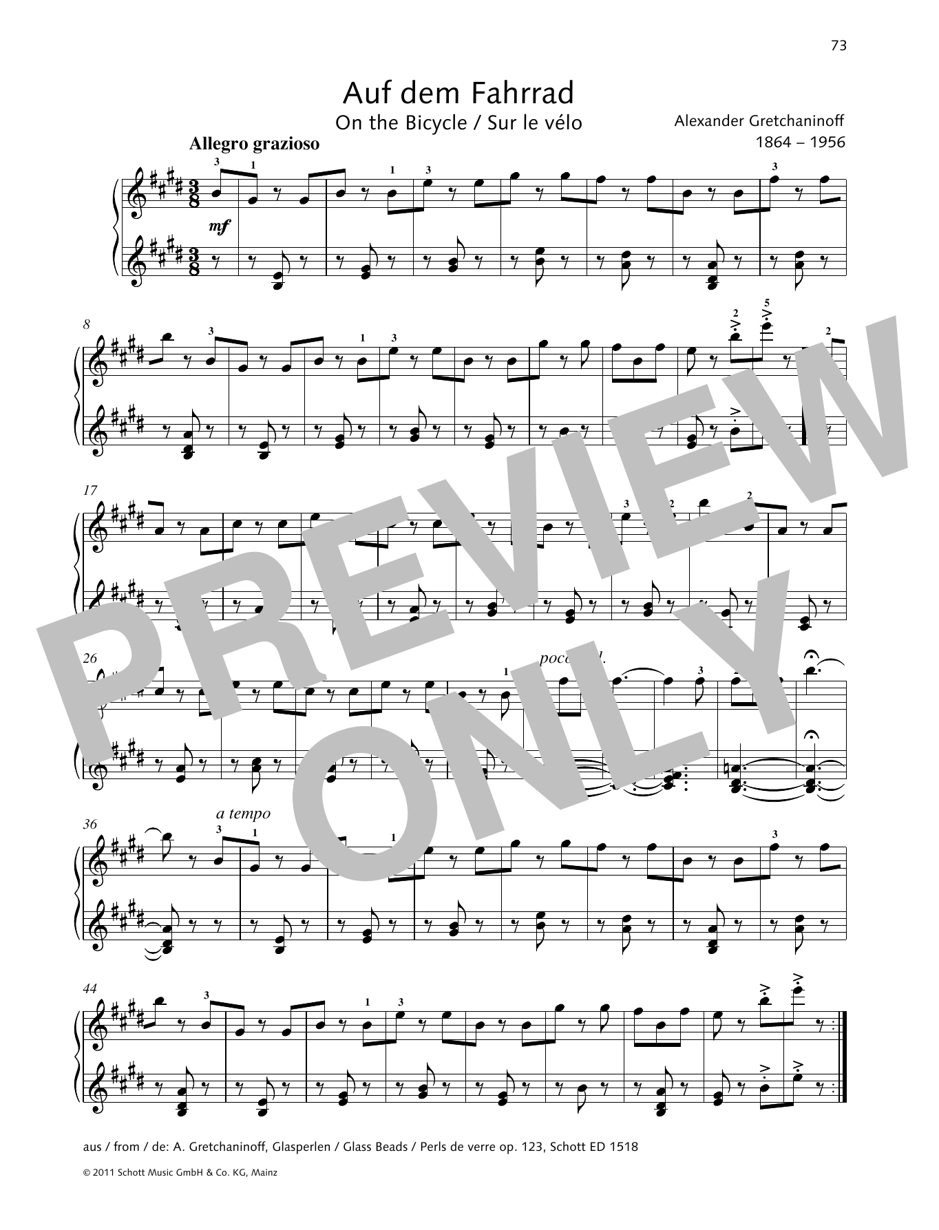 On the Bicycle Sheet Music