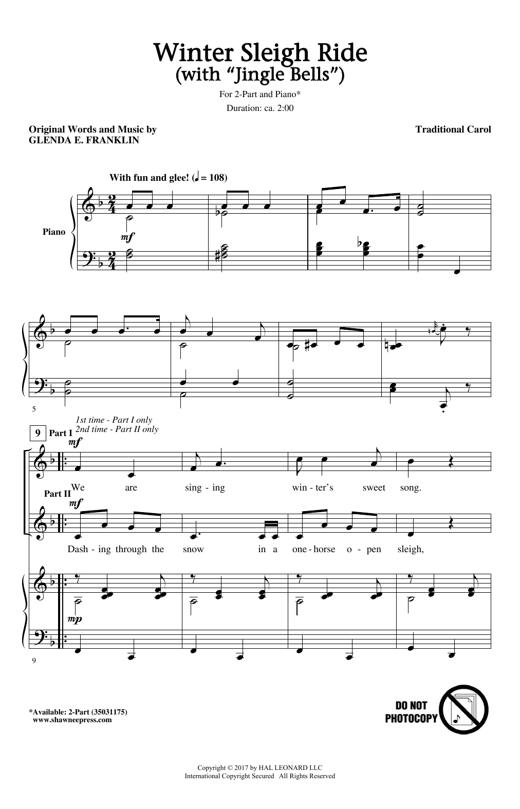 Winter Sleigh Ride (With Jingle Bells) Sheet Music