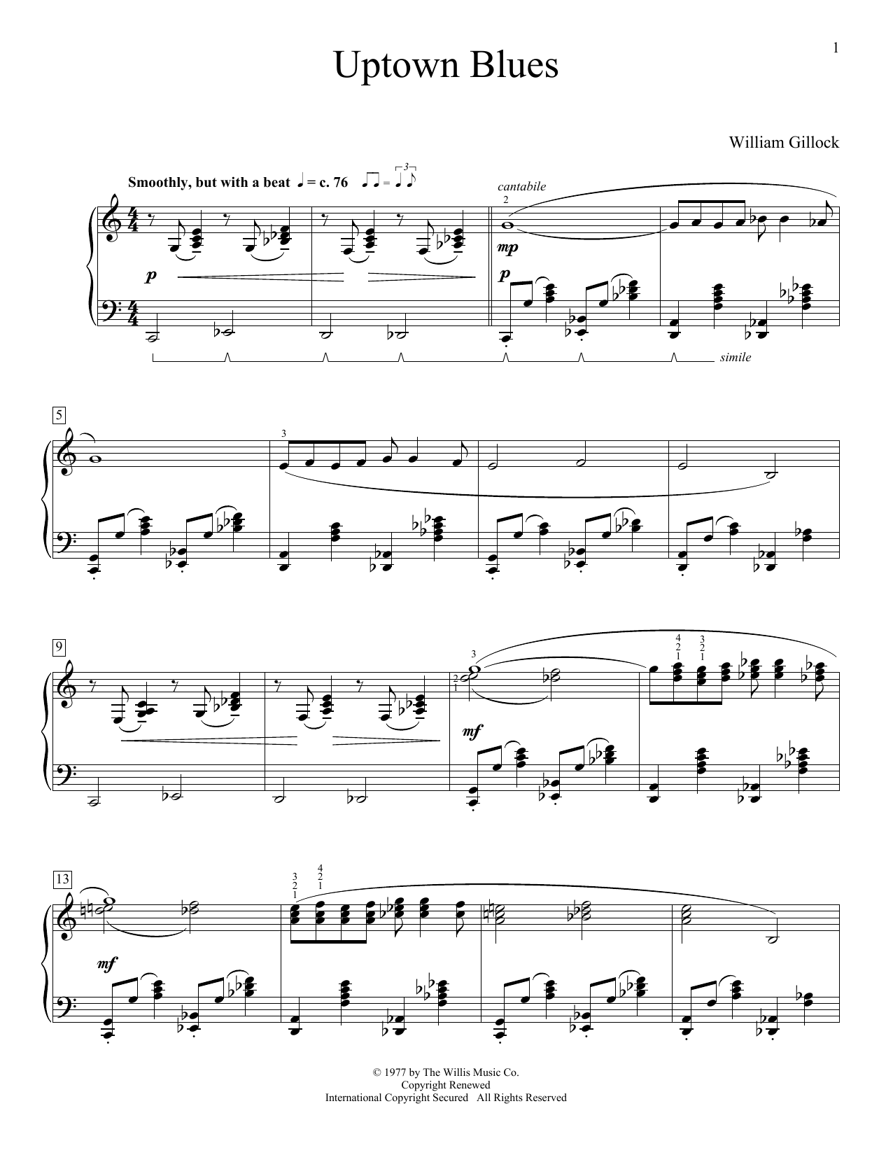 Uptown Blues (Educational Piano)