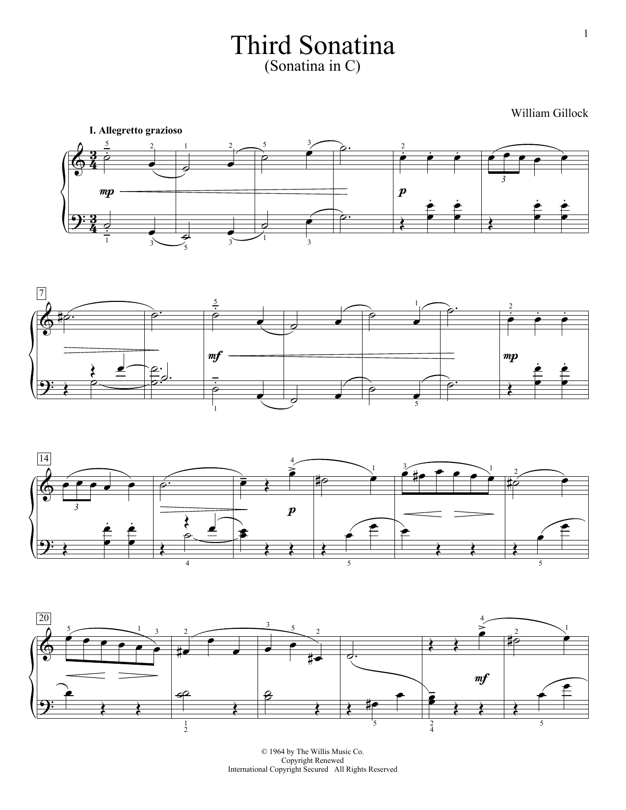Third Sonatina (Sonatina In C) (Educational Piano)