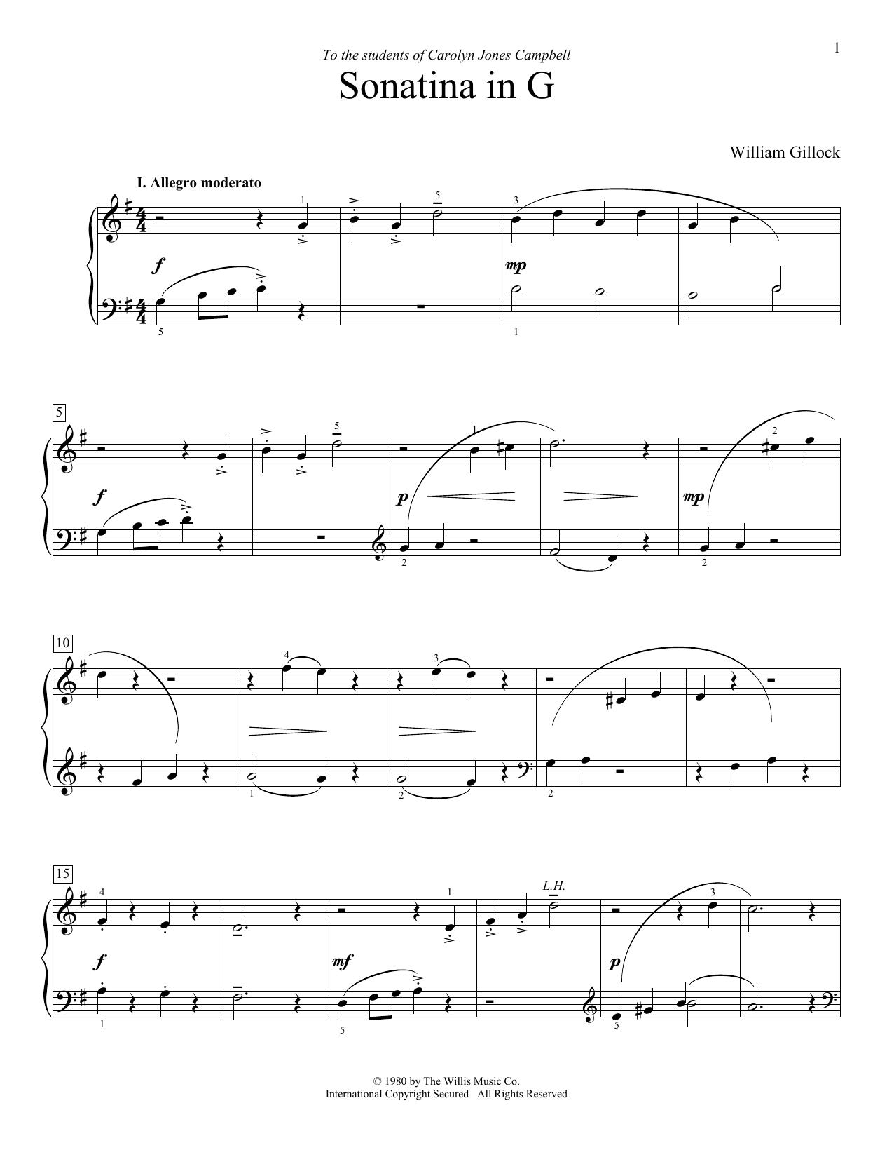Sonatina In G (Educational Piano)