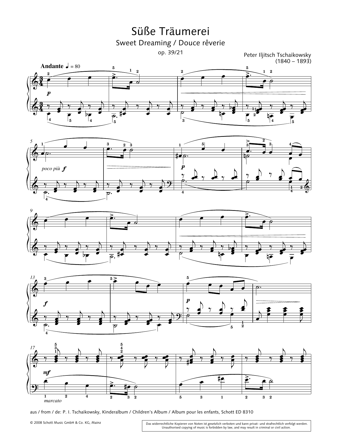 Sweet Dreaming Sheet Music