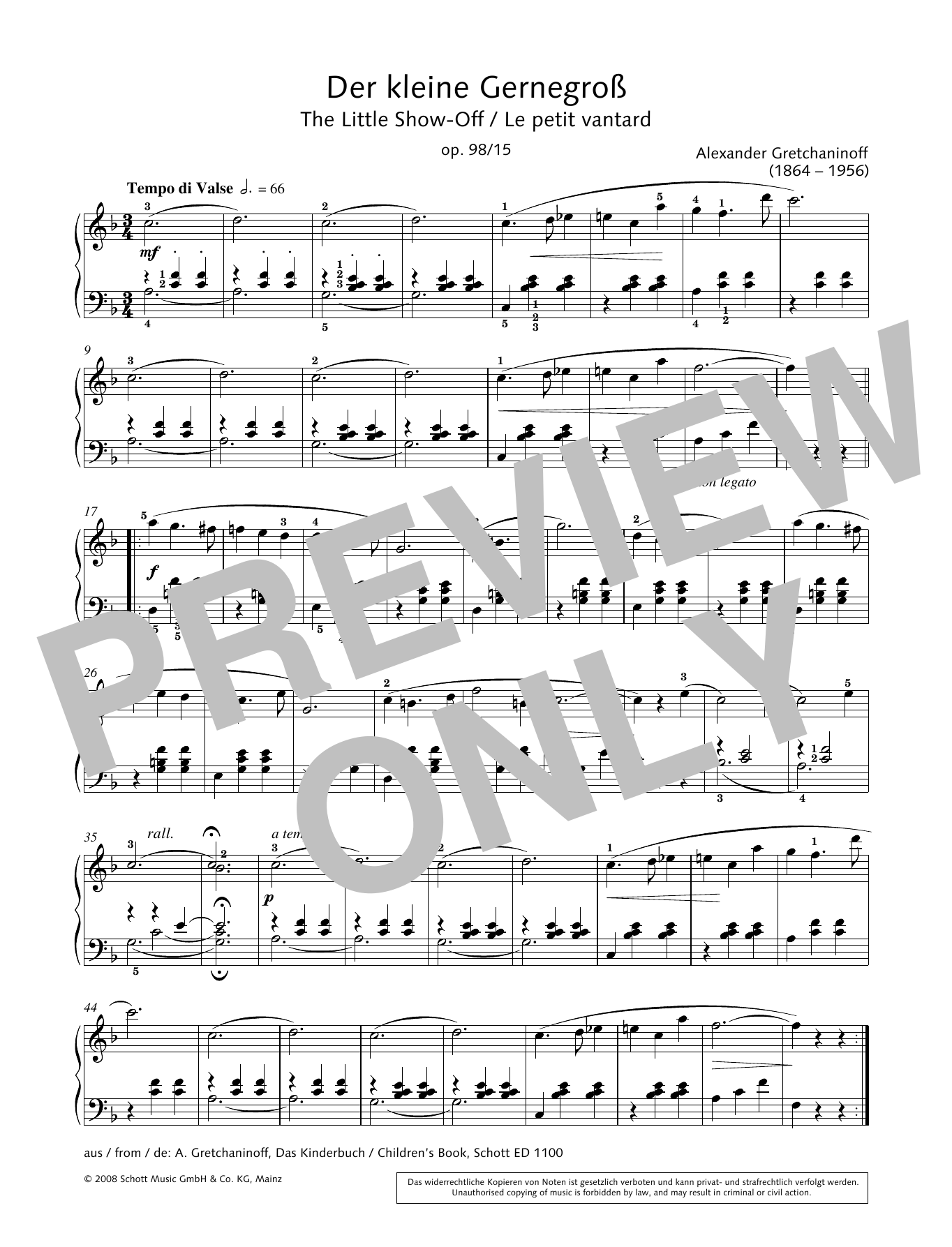 The Little Show-Off Sheet Music