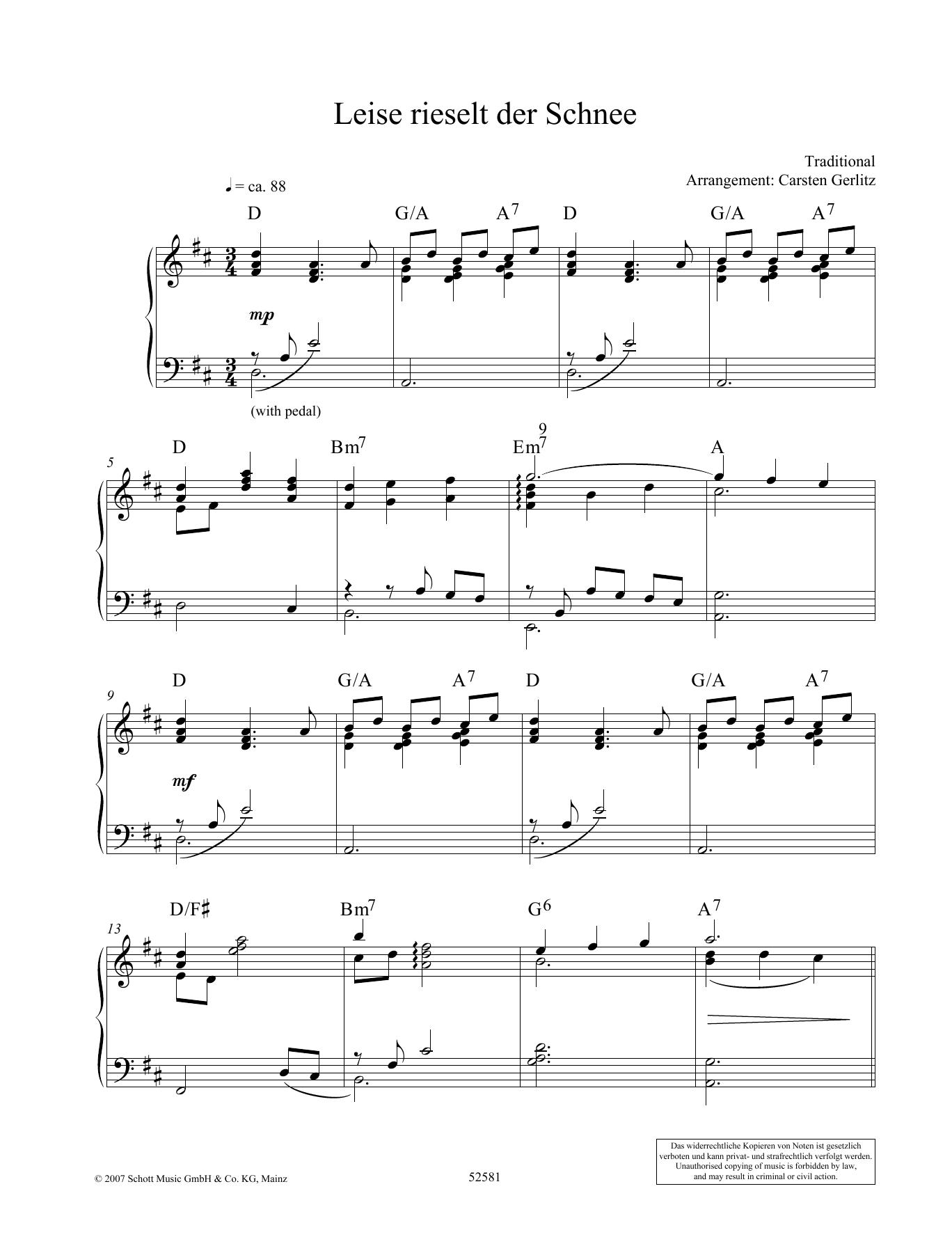 Leise rieselt der Schnee Sheet Music
