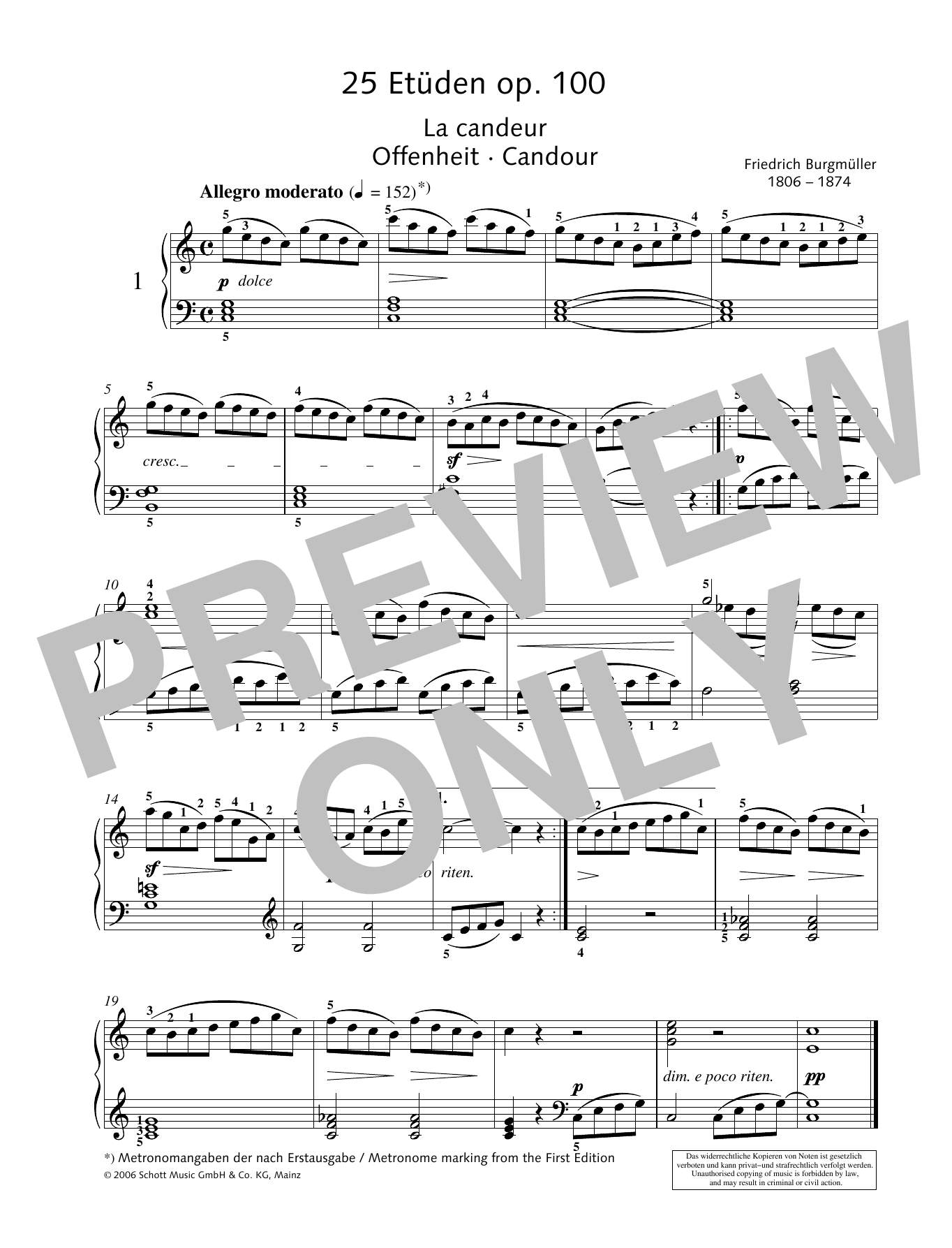 Candour Sheet Music