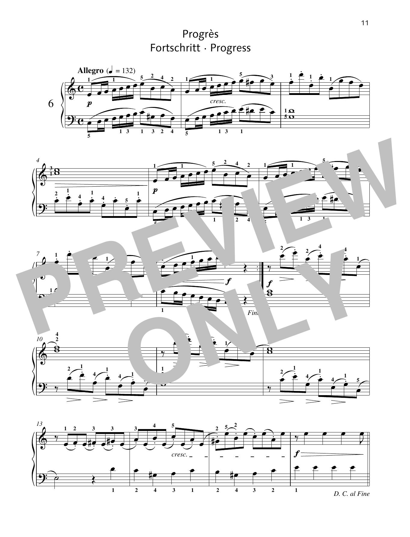 Progress Sheet Music