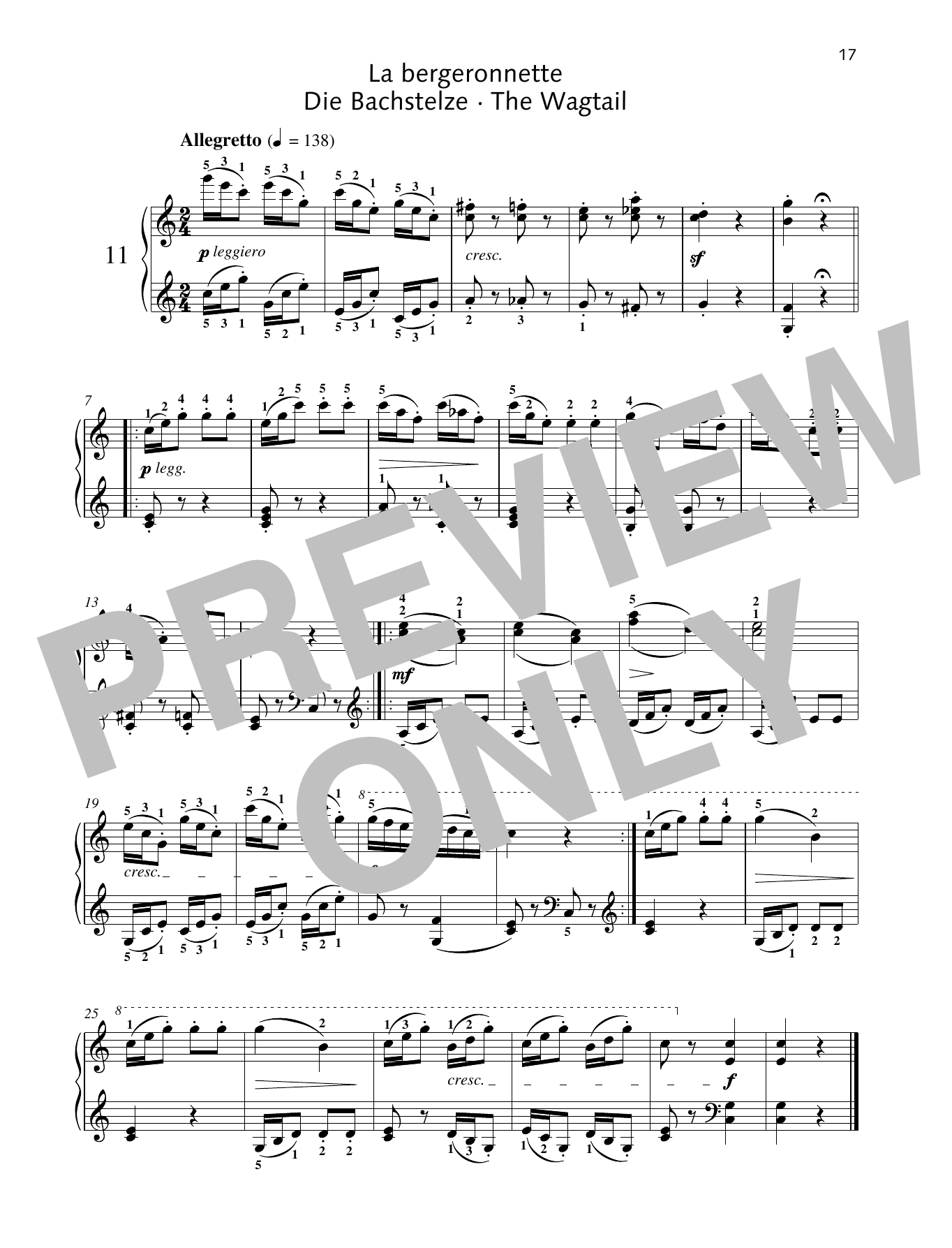 The Wagtail Sheet Music