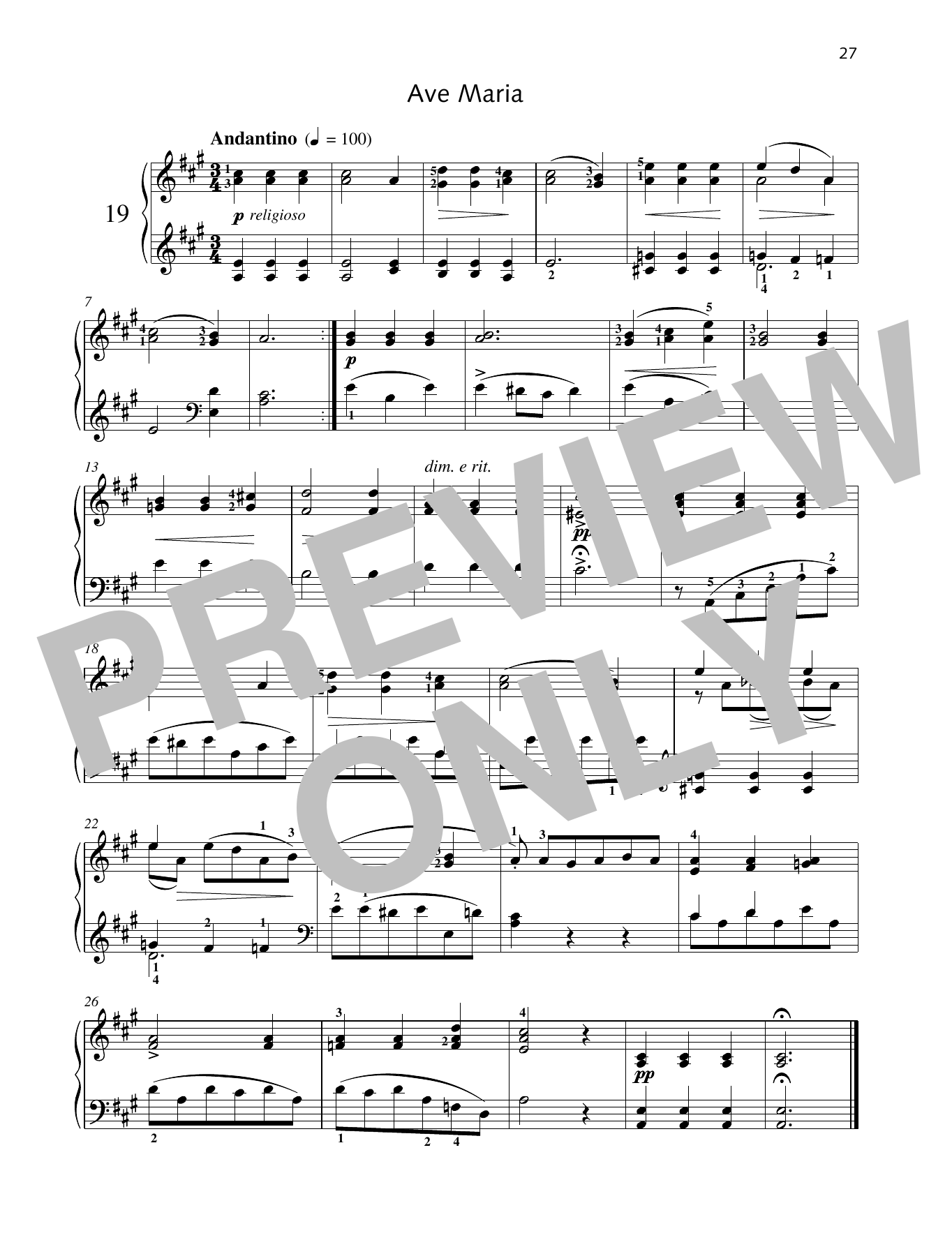 Ave Maria Sheet Music