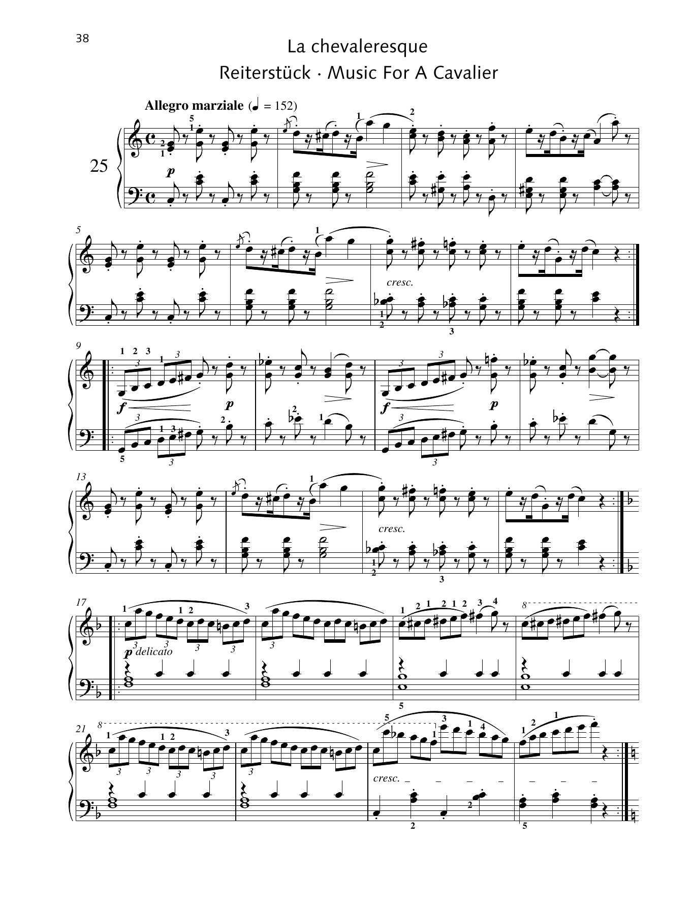 Music For A Cavalier Sheet Music