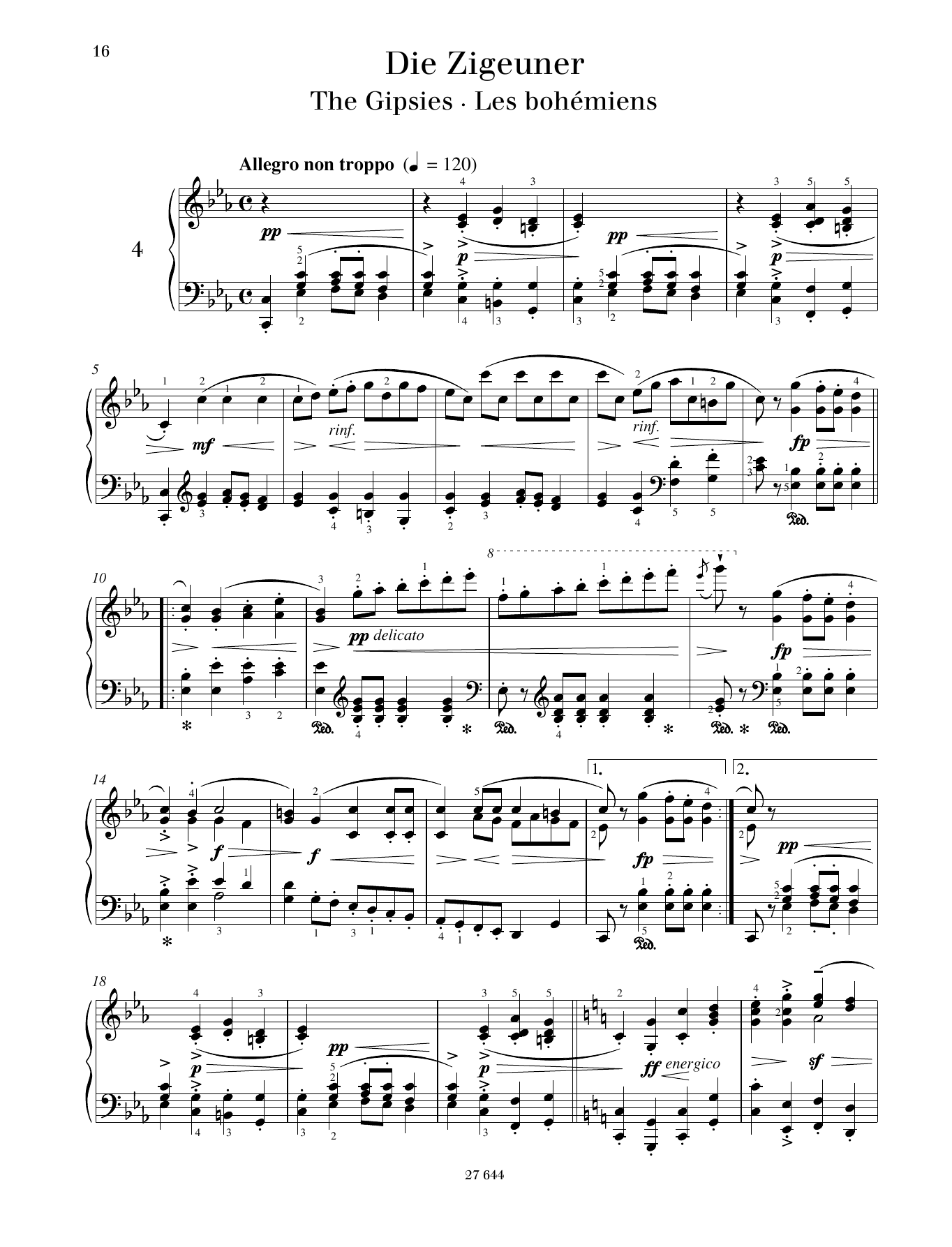 The Gipsies Sheet Music