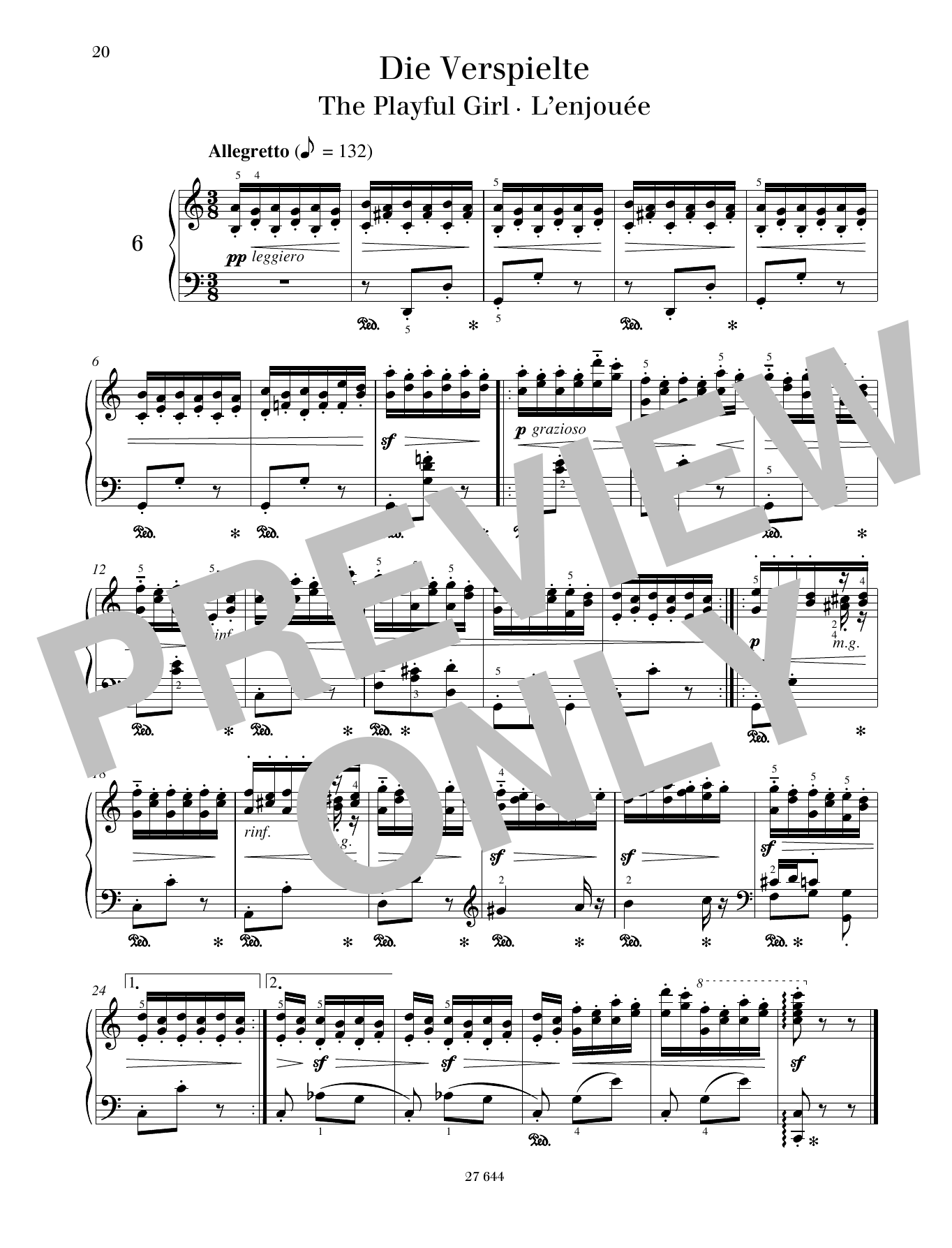 The Playful Girl Sheet Music