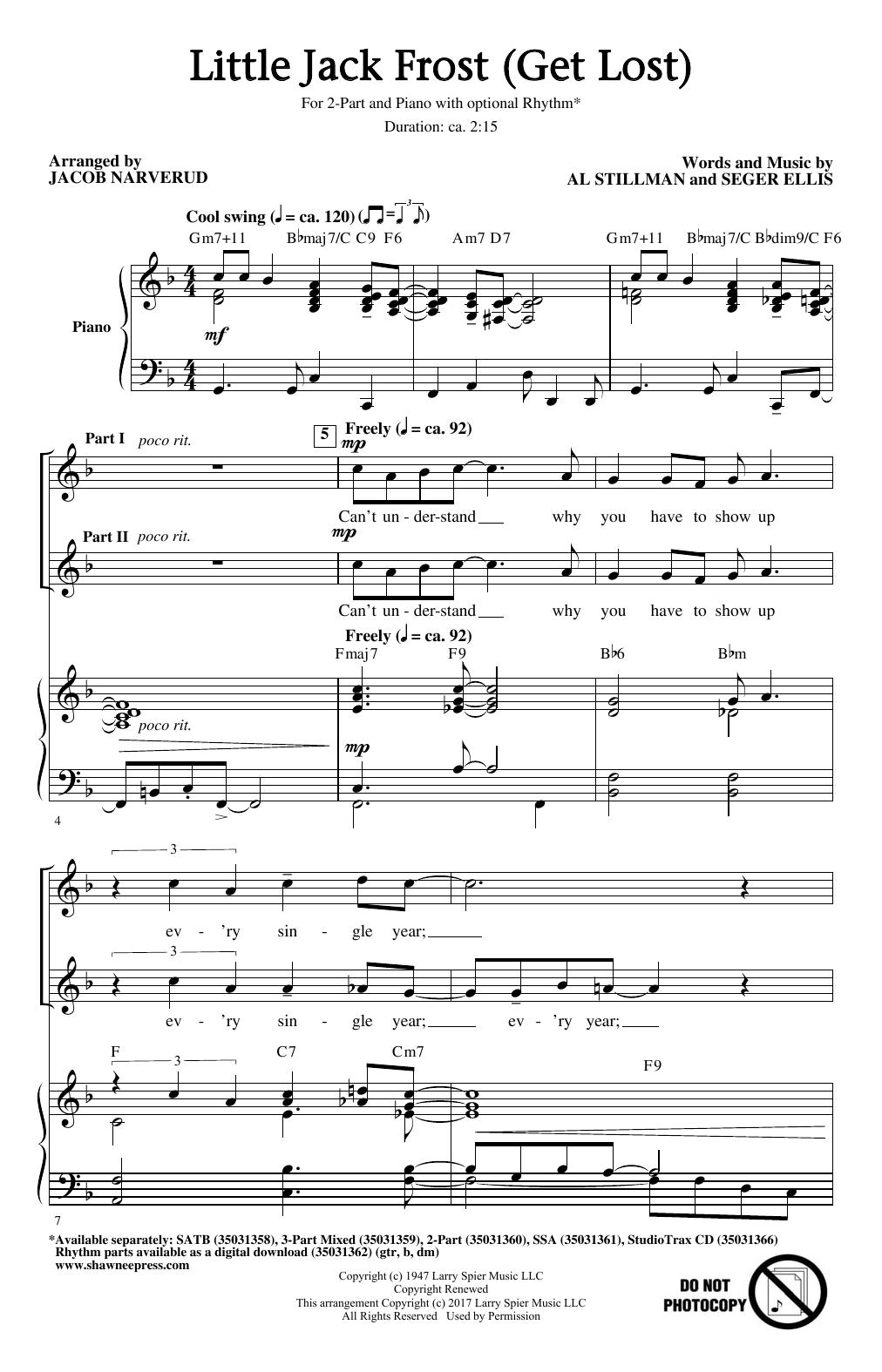 Little Jack Frost (Get Lost) (2-Part Choir)