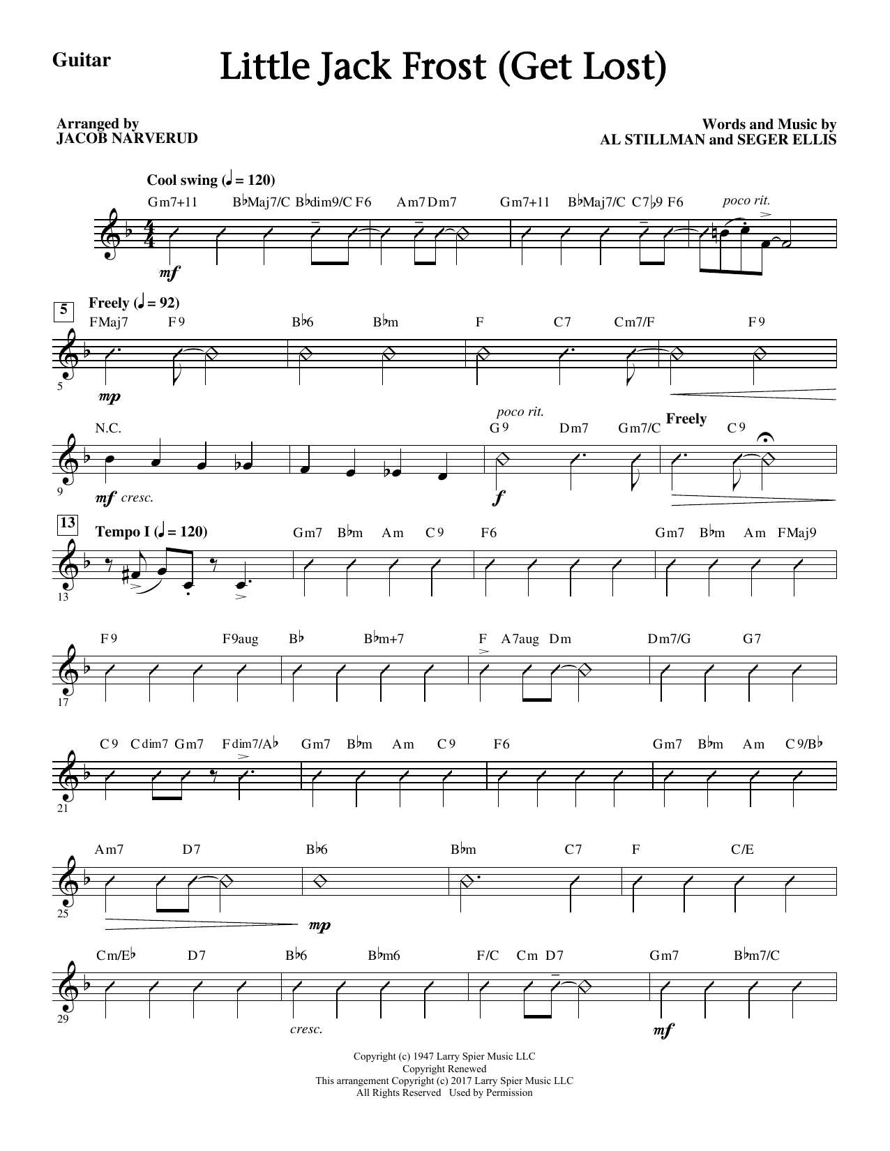 Little Jack Frost (Get Lost) - Guitar Sheet Music