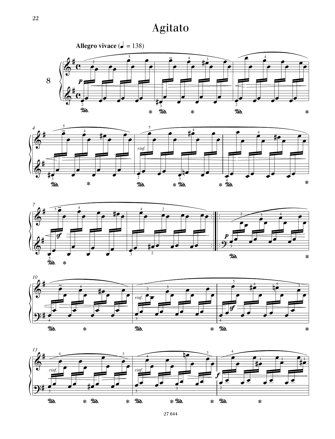 Agitato Sheet Music