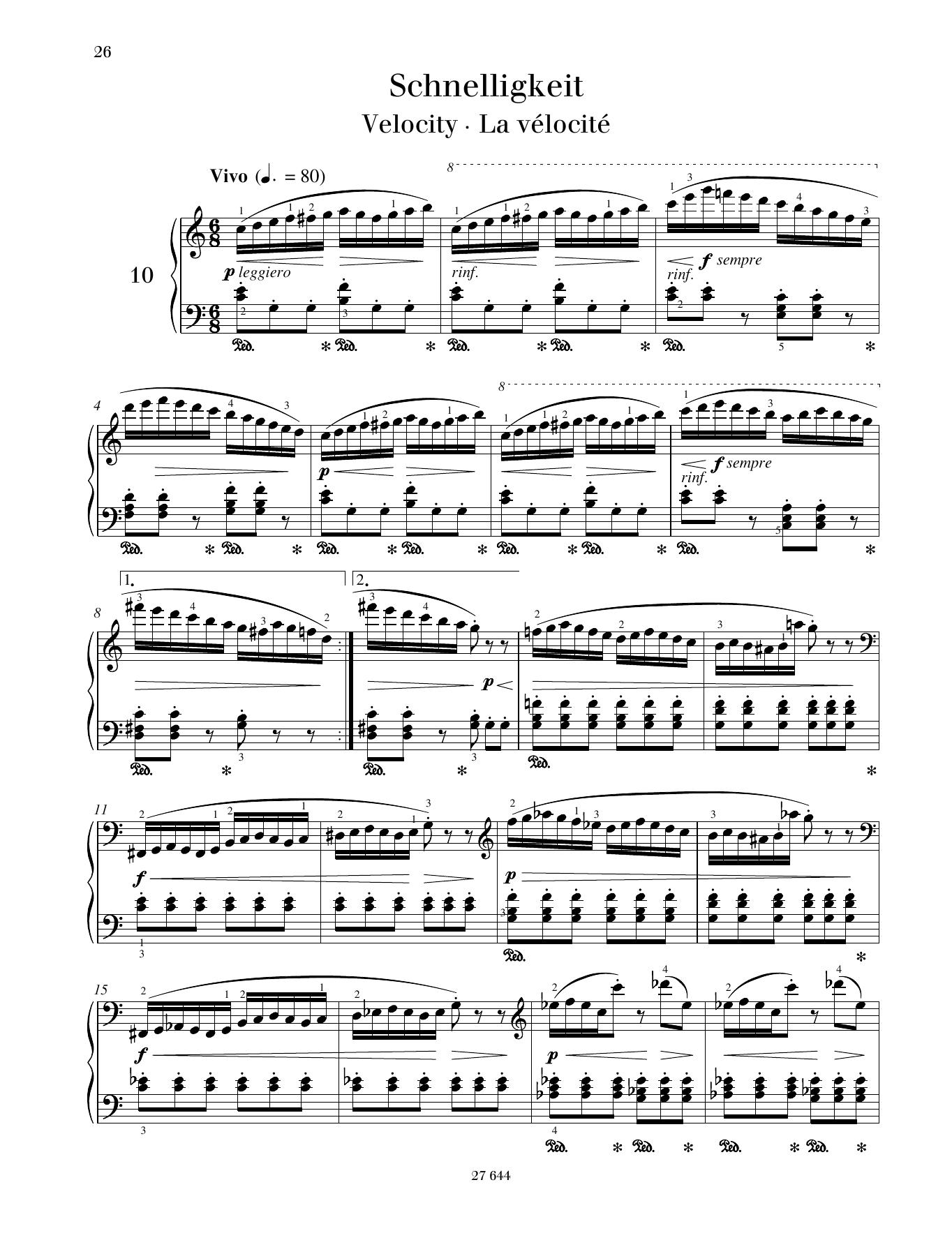 Velocity Sheet Music