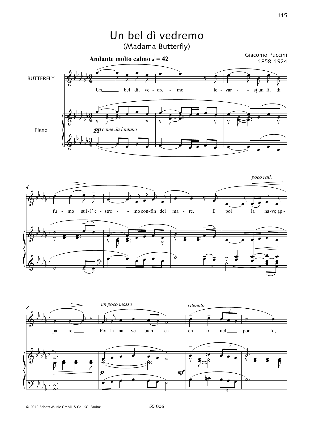 Un Bel Di Vedremo Sheet Music