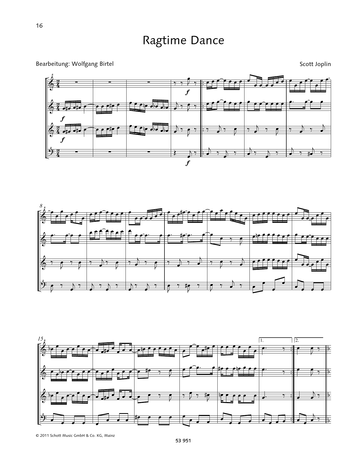 Ragtime Dance Sheet Music