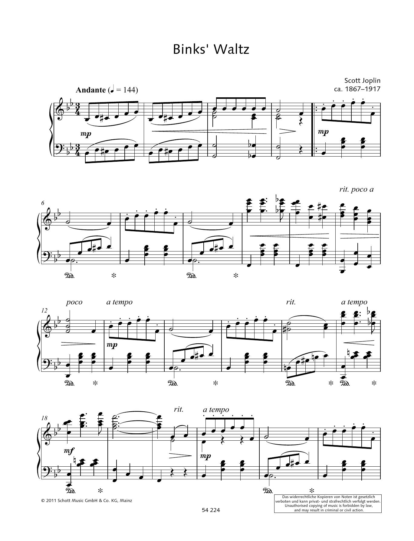 Binks' Waltz Sheet Music