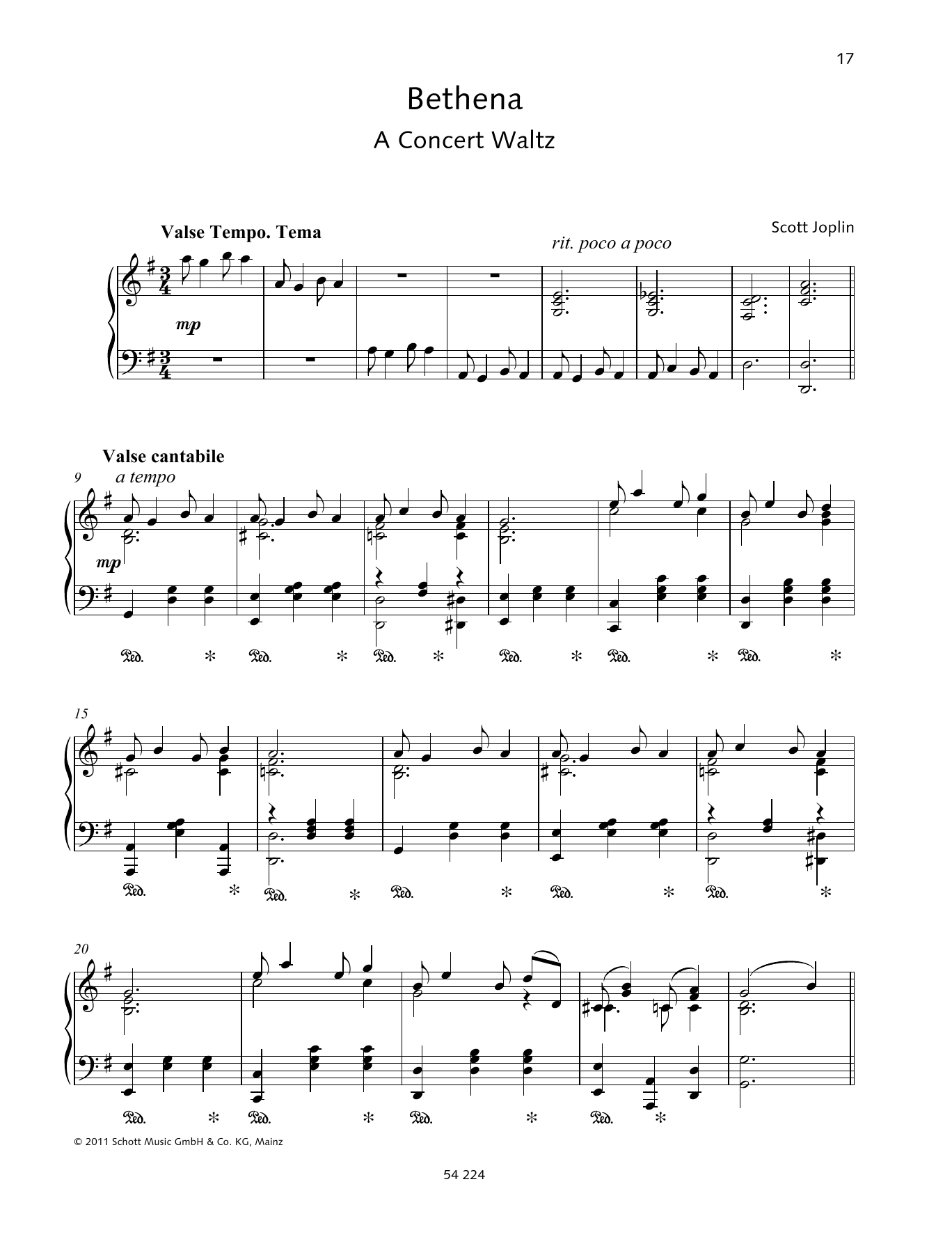 Bethena Sheet Music