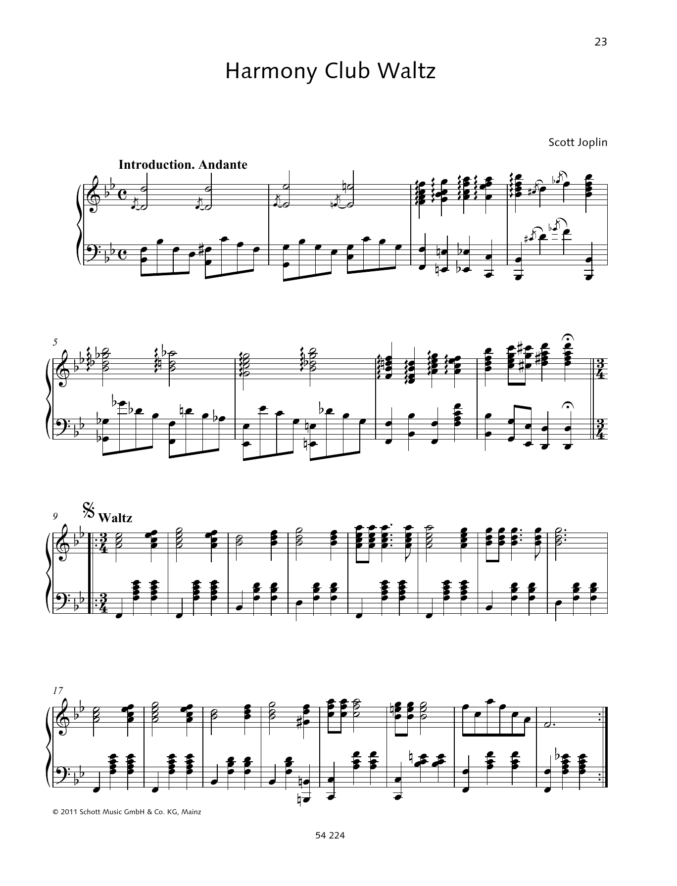 Harmony Club Waltz Sheet Music