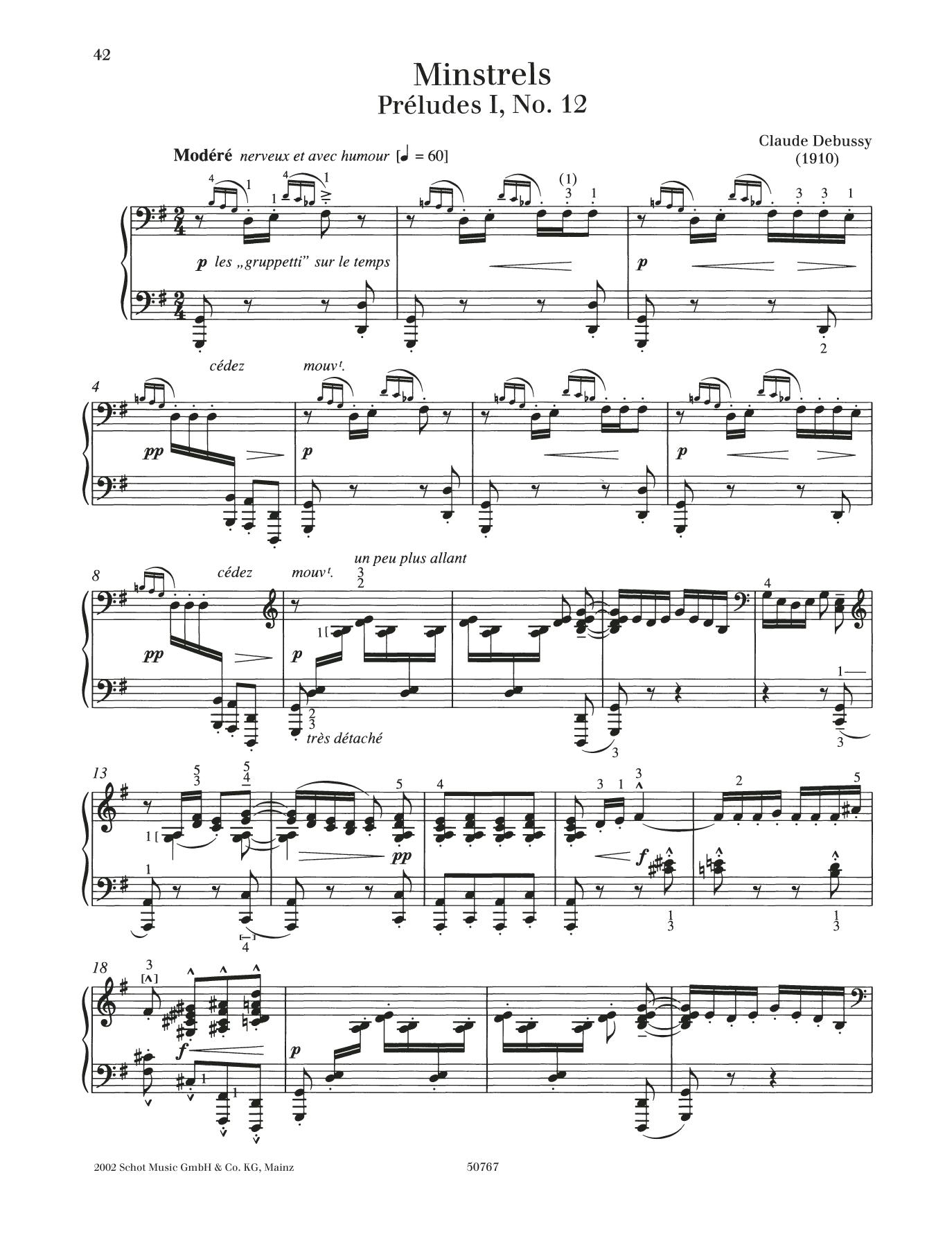 Minstrels Sheet Music