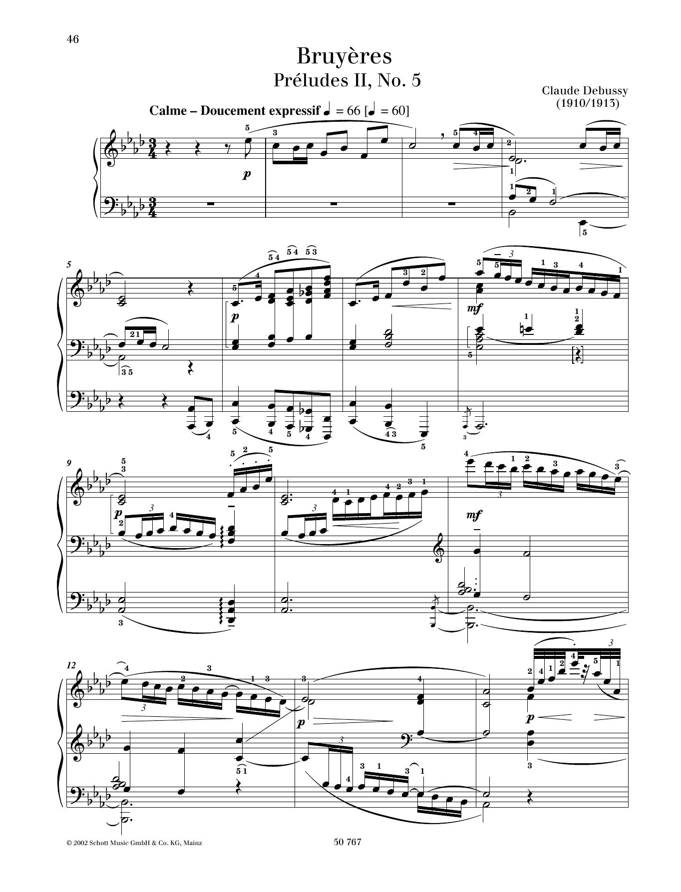 Bruyères Sheet Music