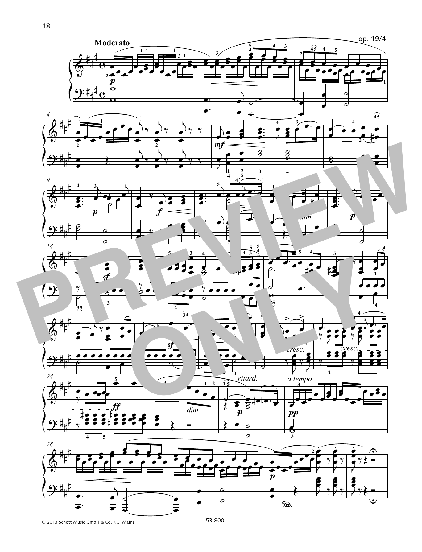 Moderato Sheet Music