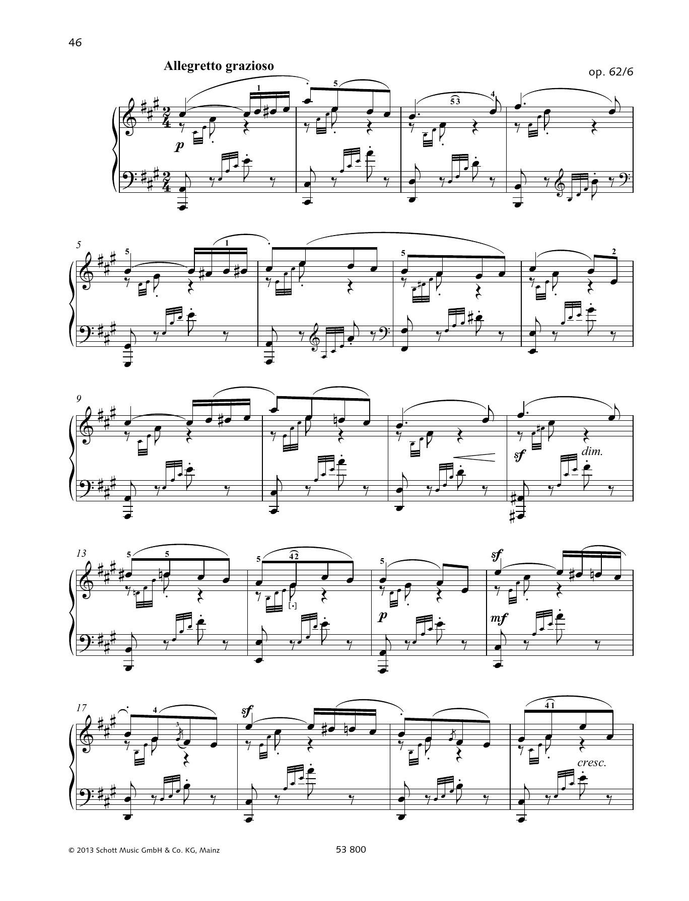 Allegretto Grazioso Sheet Music