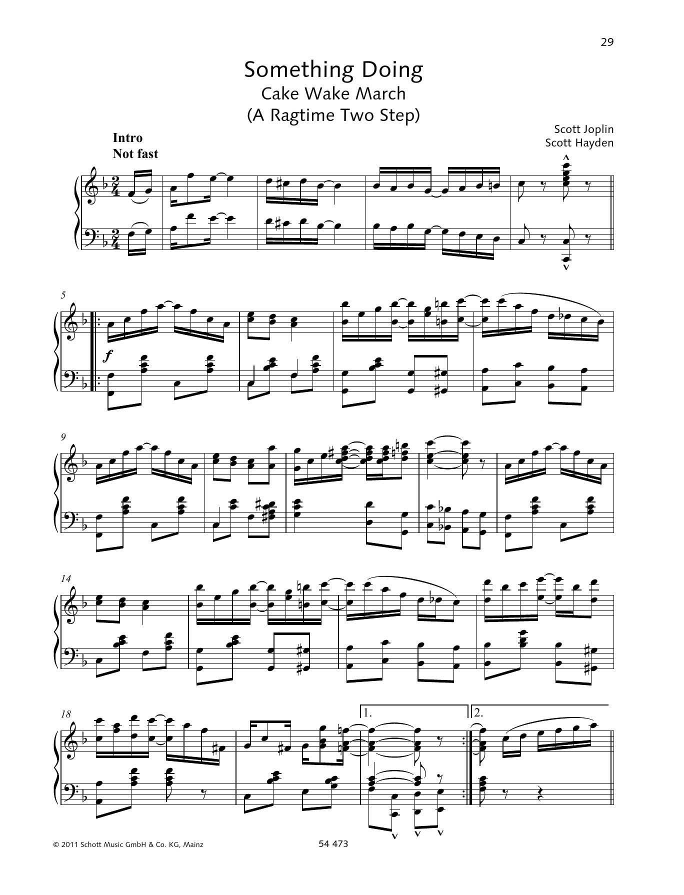 Something Doing Sheet Music