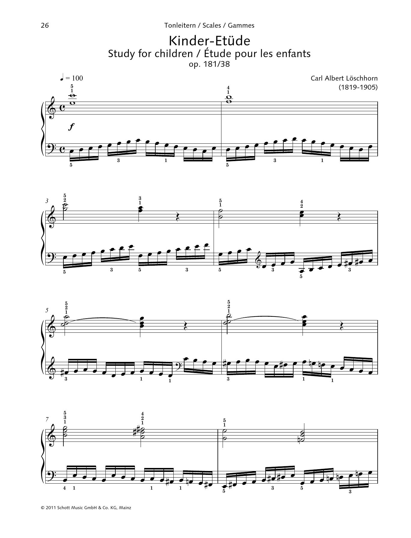 Study for children Sheet Music