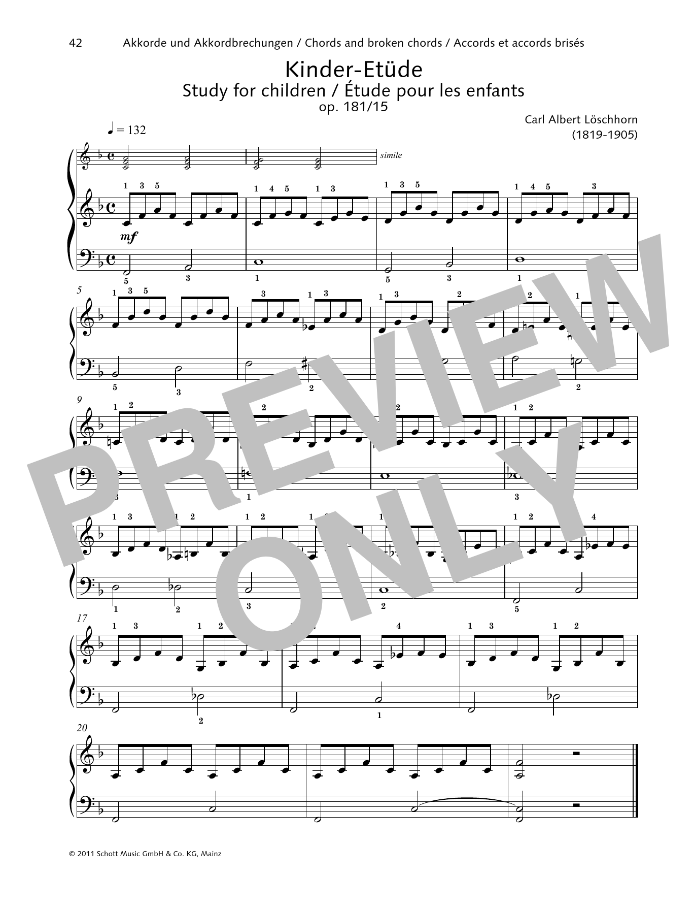 Study for children Sheet Music