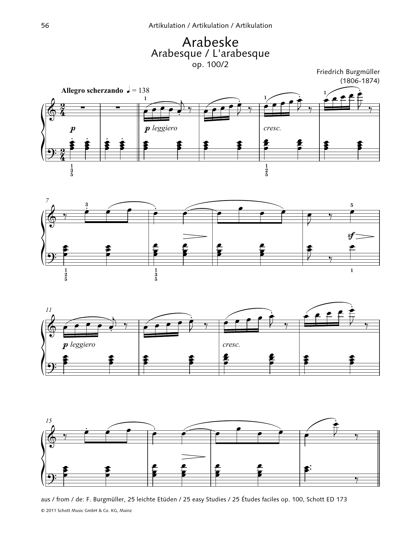 Arabesque Sheet Music