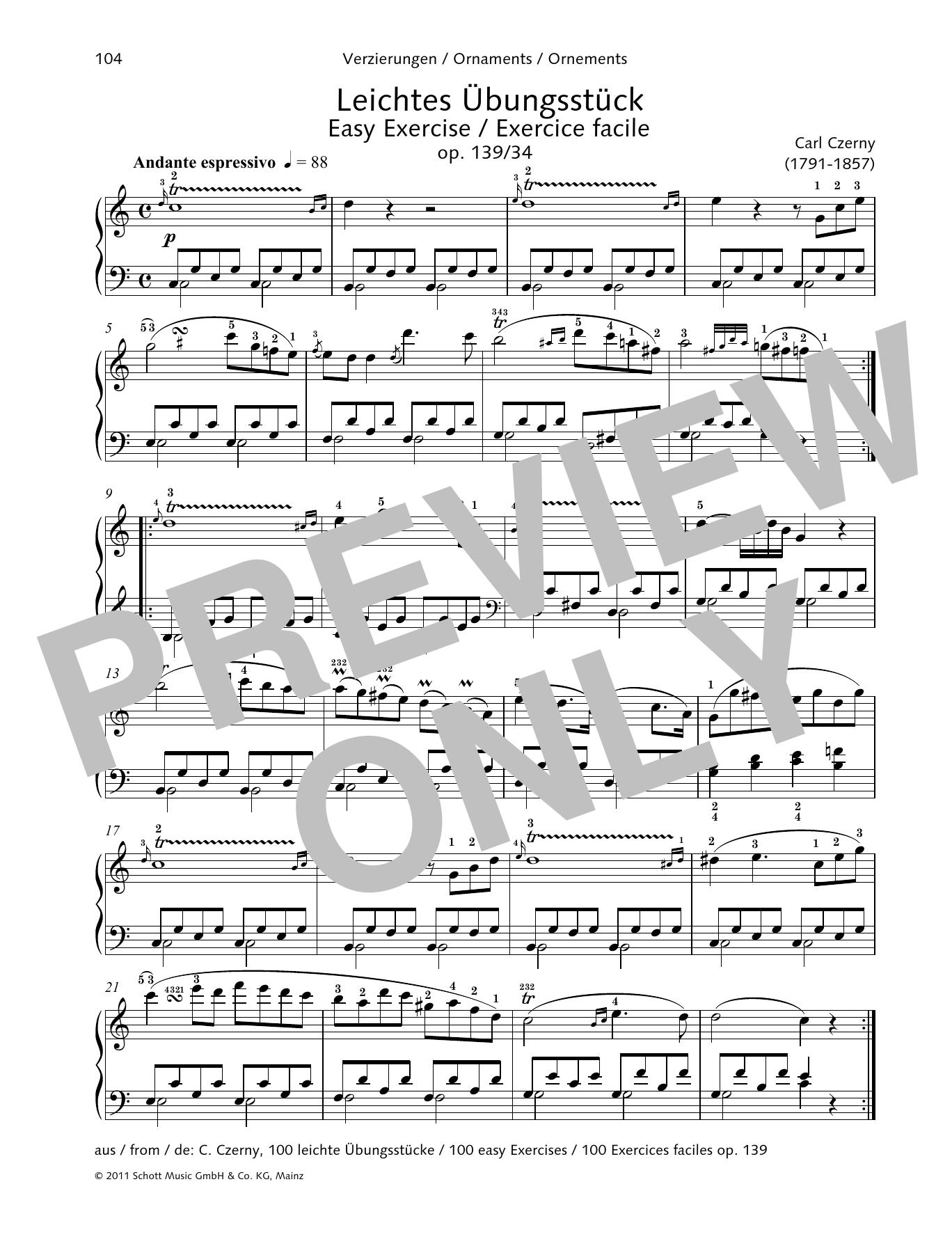 Easy Exercise Sheet Music