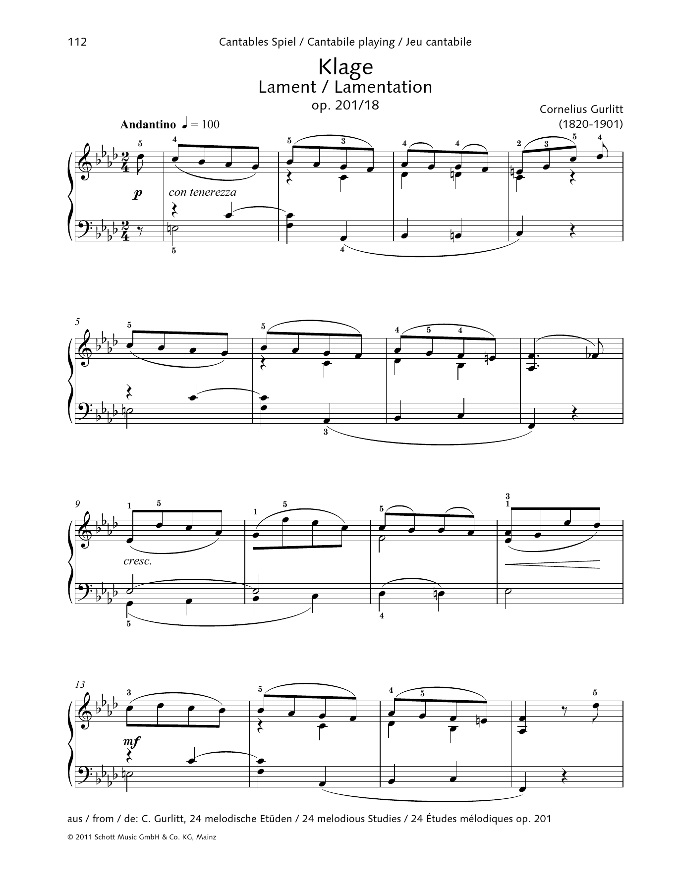 Lament Sheet Music