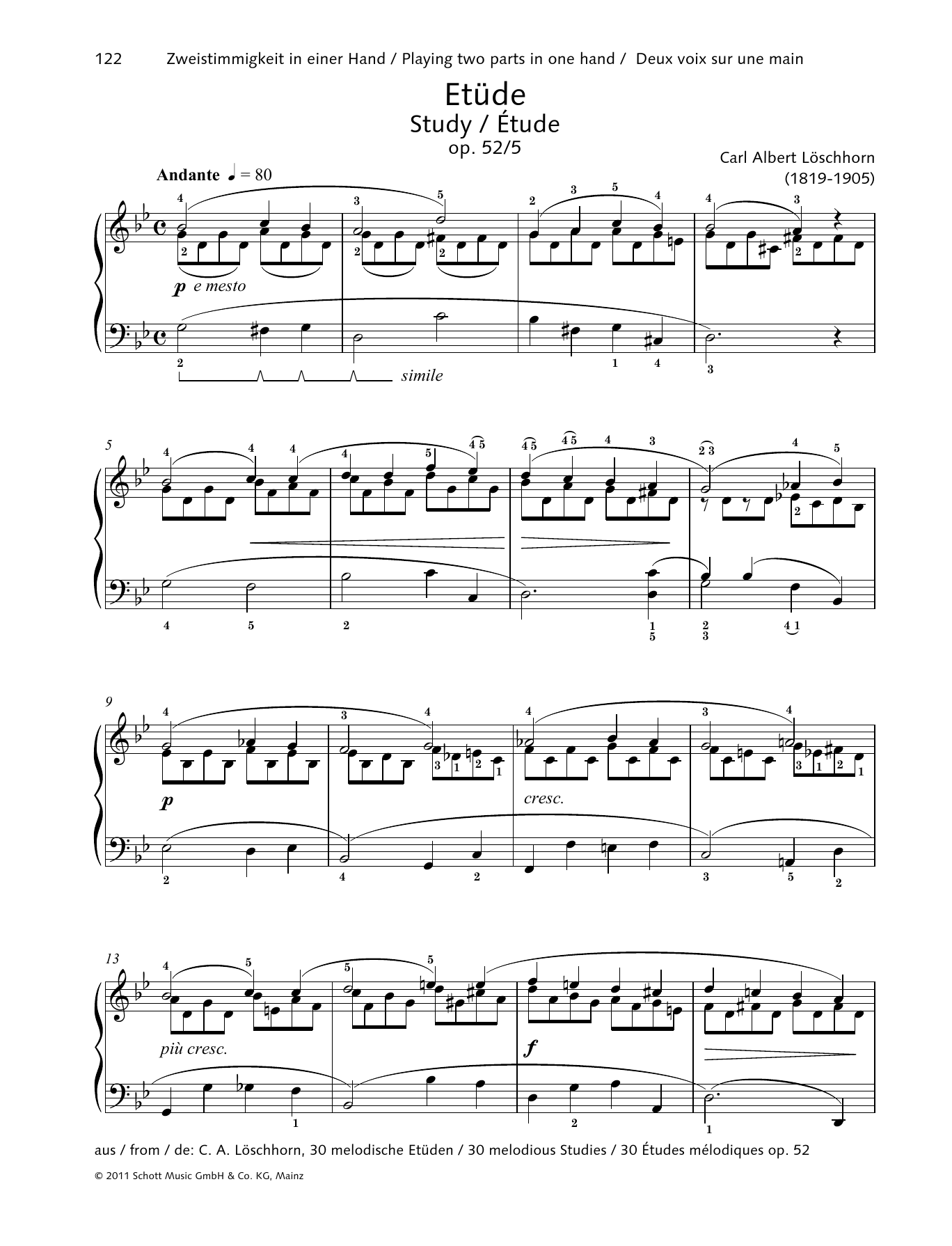 Study Sheet Music