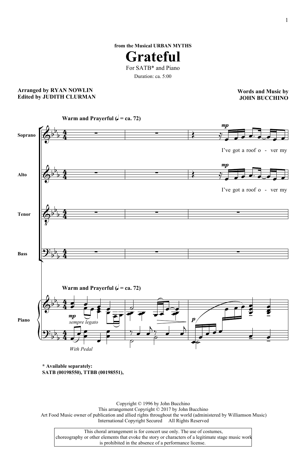 Grateful (SATB Choir)