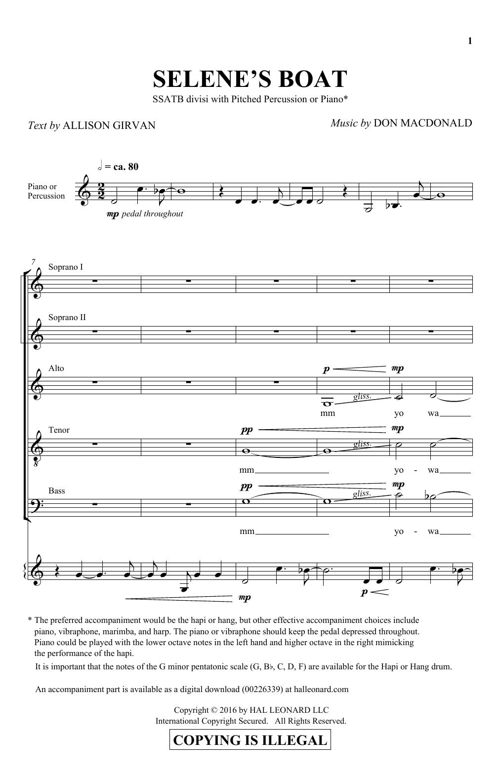 Selene's Boat (SATB Choir)