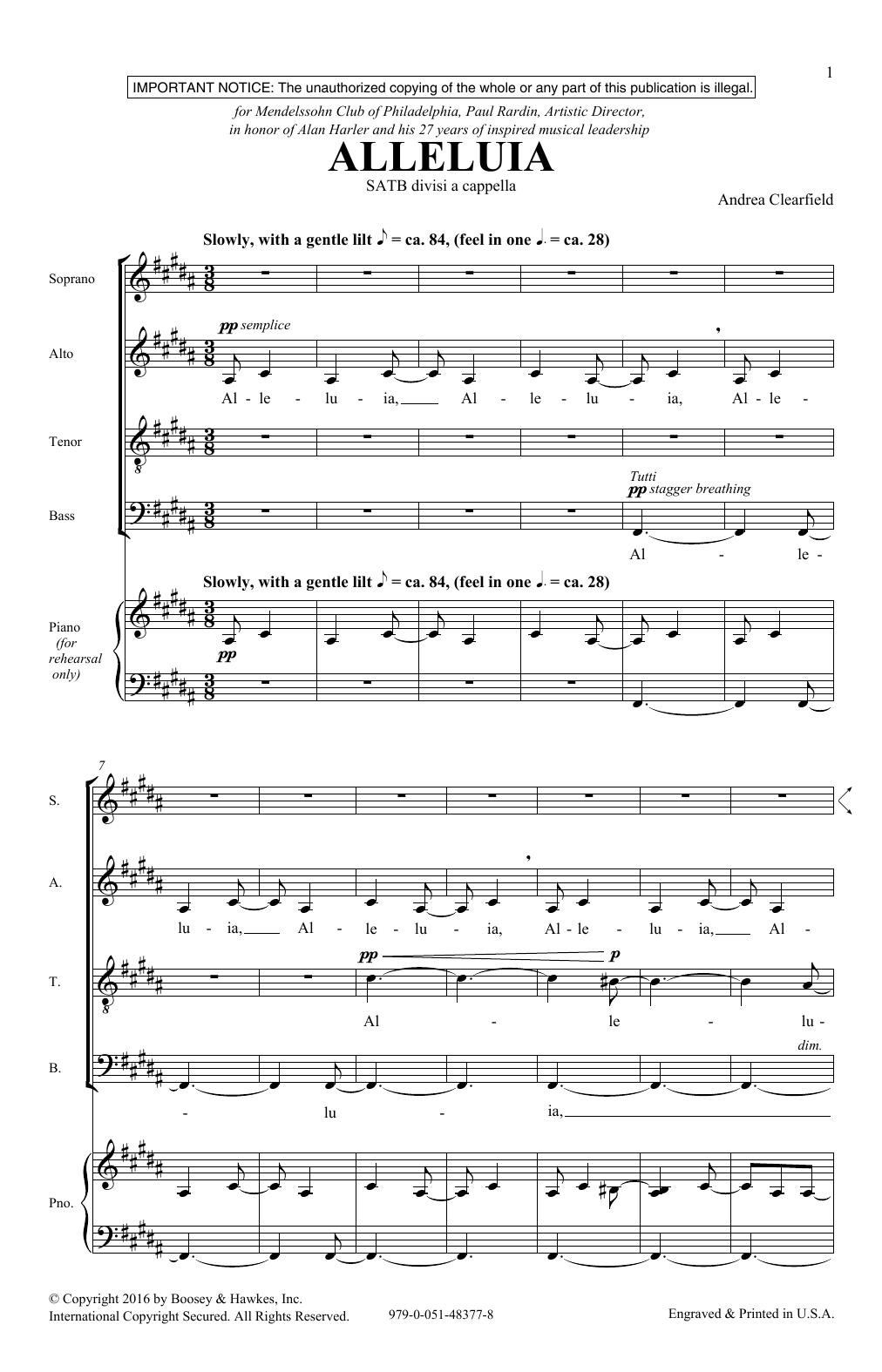 Alleluia Sheet Music