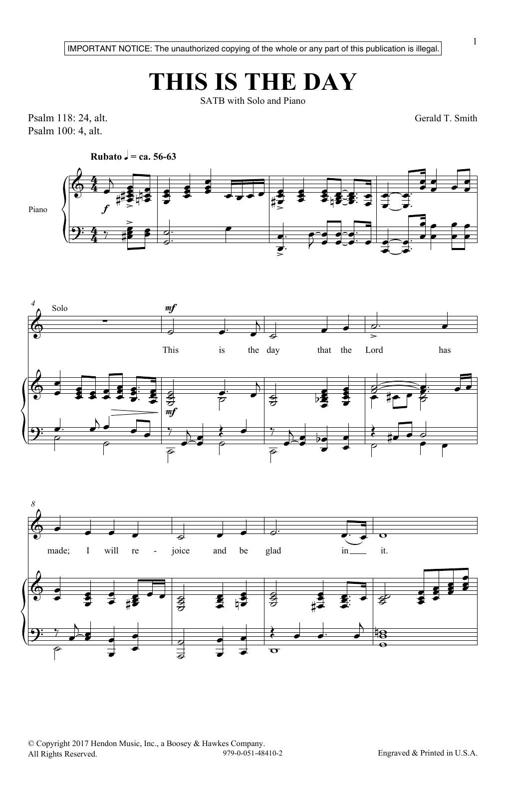 This Is The Day (SATB Choir)