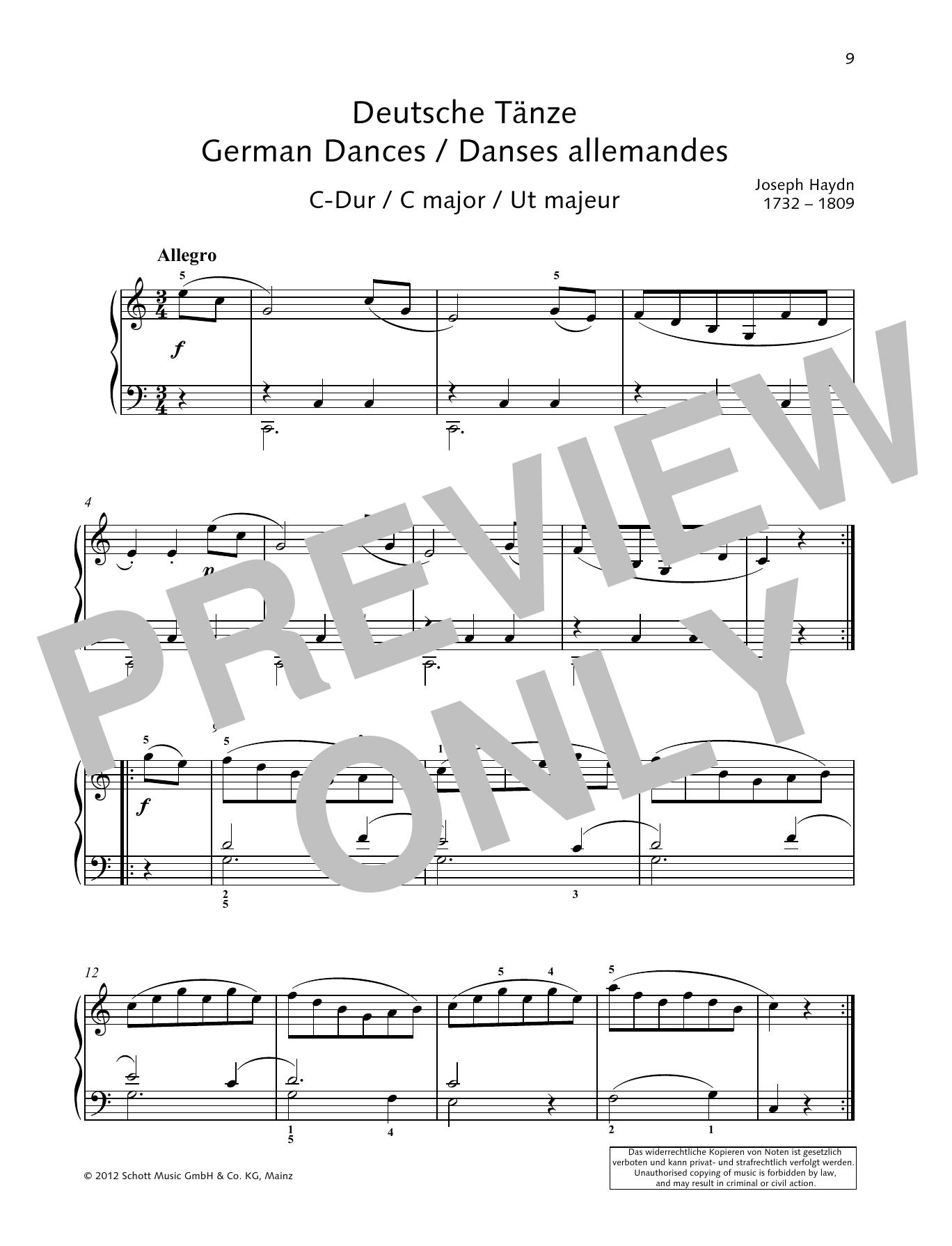 German Dance C major Sheet Music